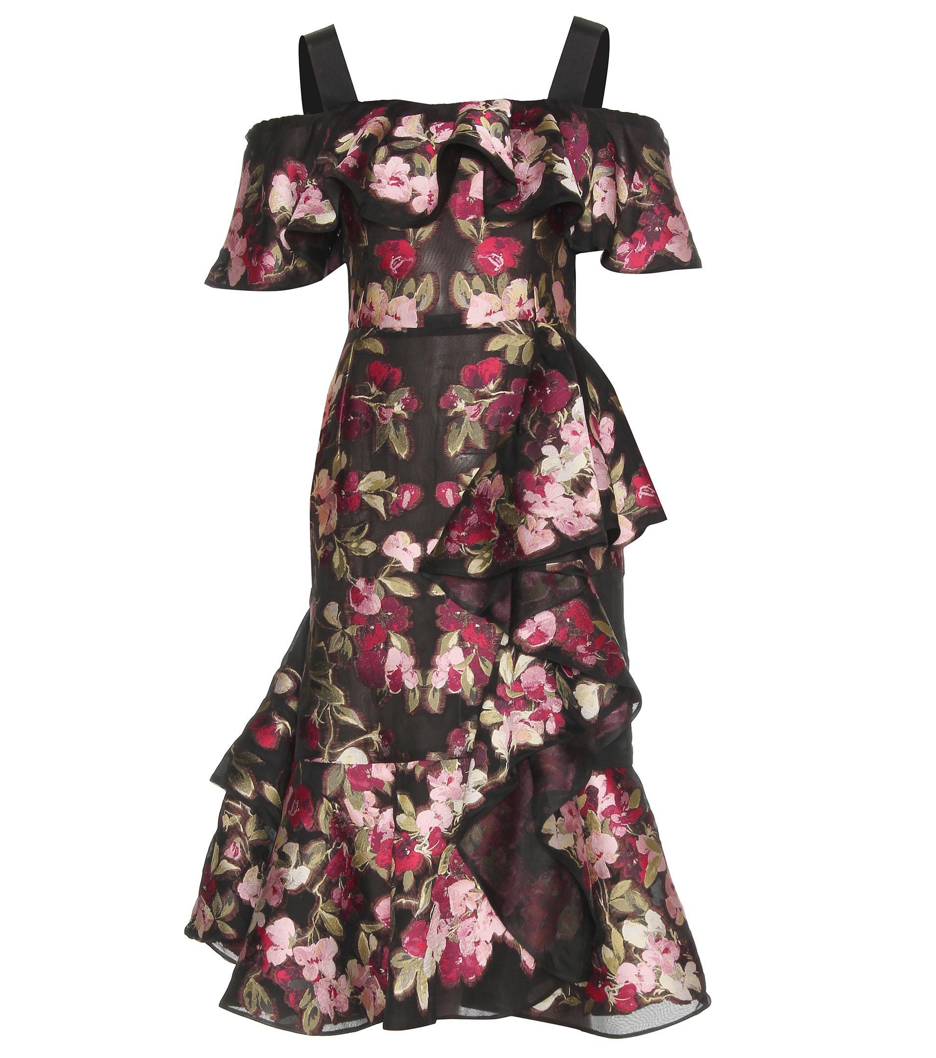 74dc5540ea Alexander McQueen. Women's Chiffon Jacquard Dress