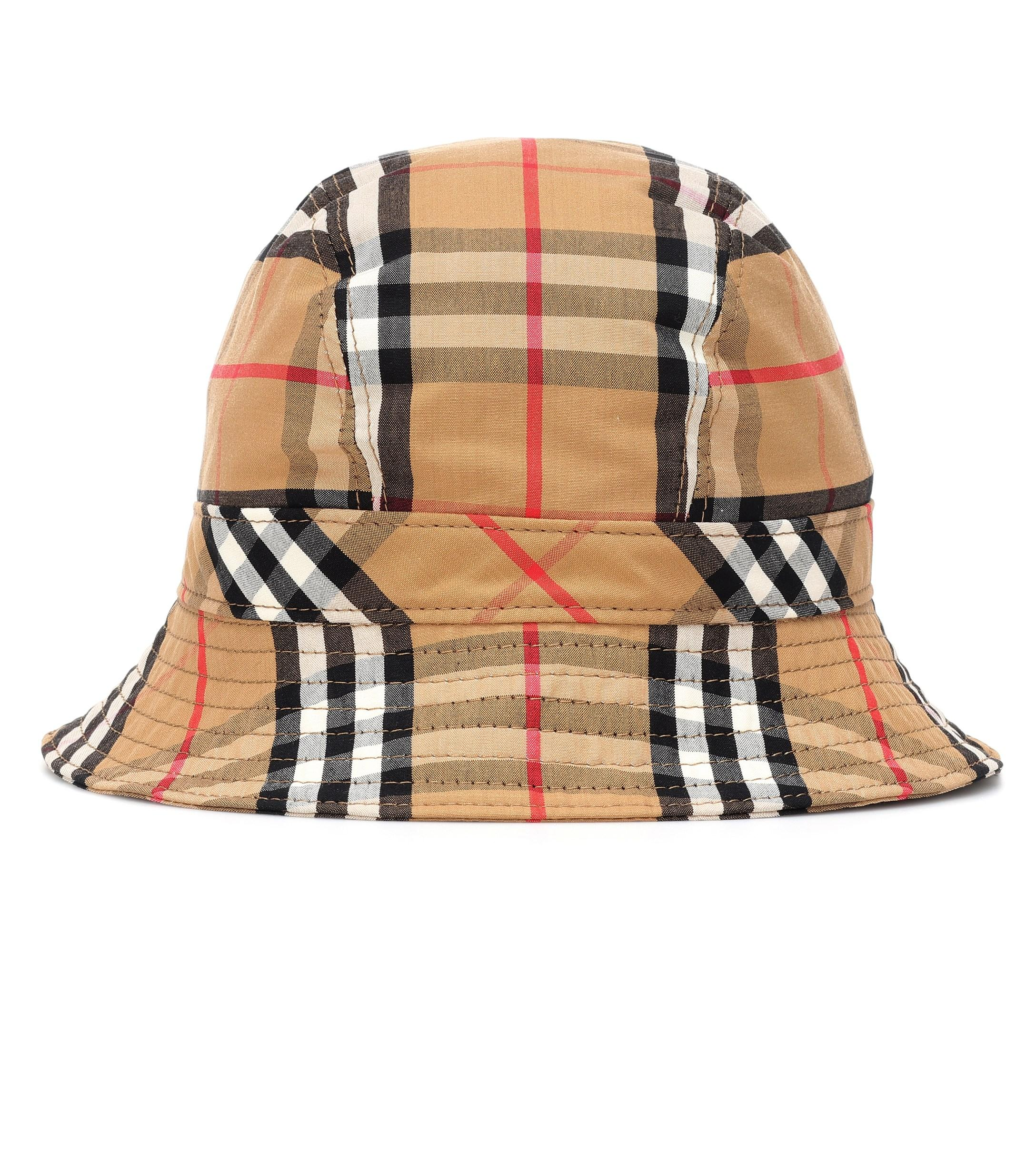 6fee45ba715 Lyst - Burberry Checked Cotton-canvas Bucket Hat - Save 28%
