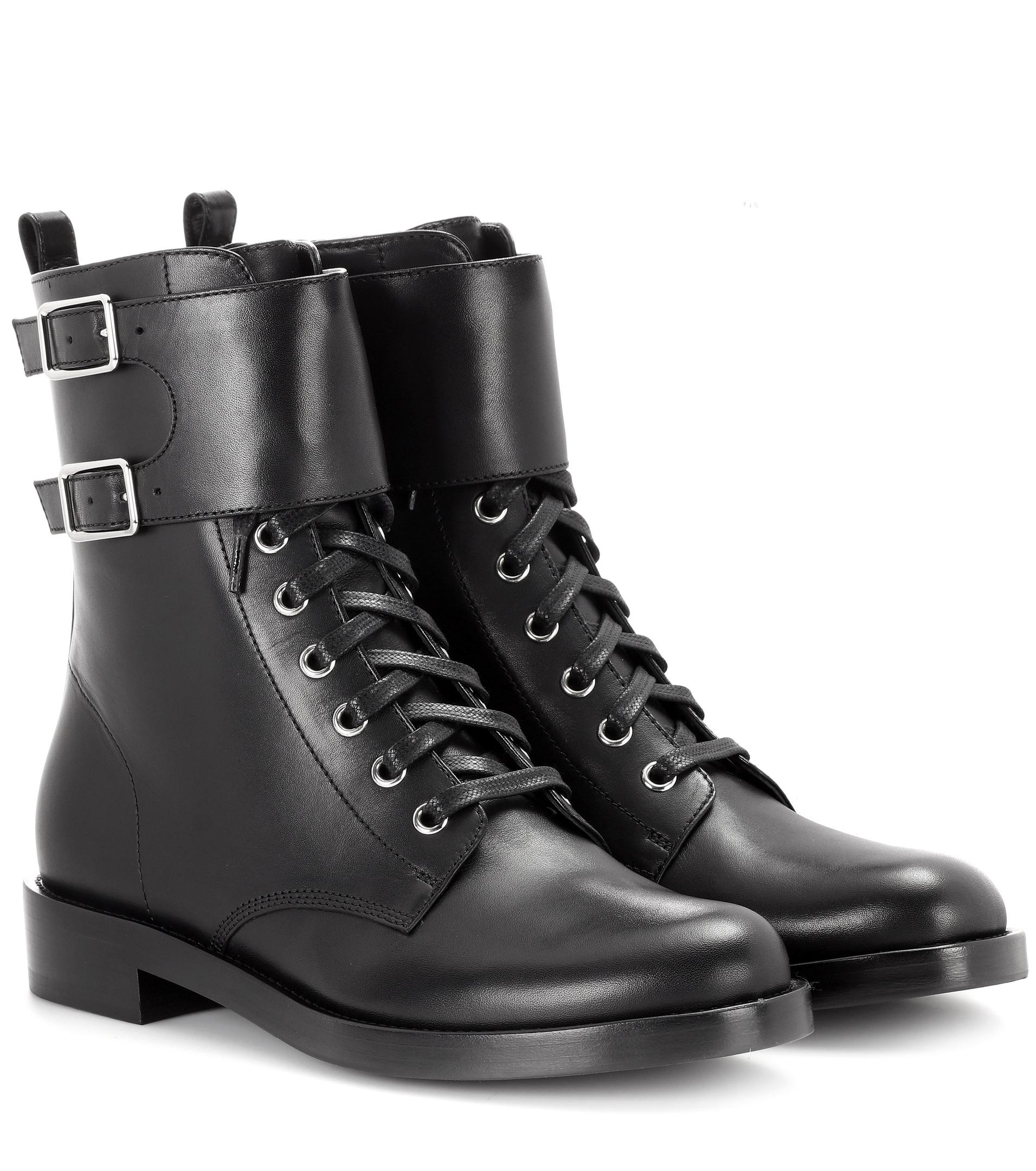 Gianvito Rossi Lagarde leather combat boots how much sale online buy cheap shopping online discount reliable low shipping cheap price OKiJR