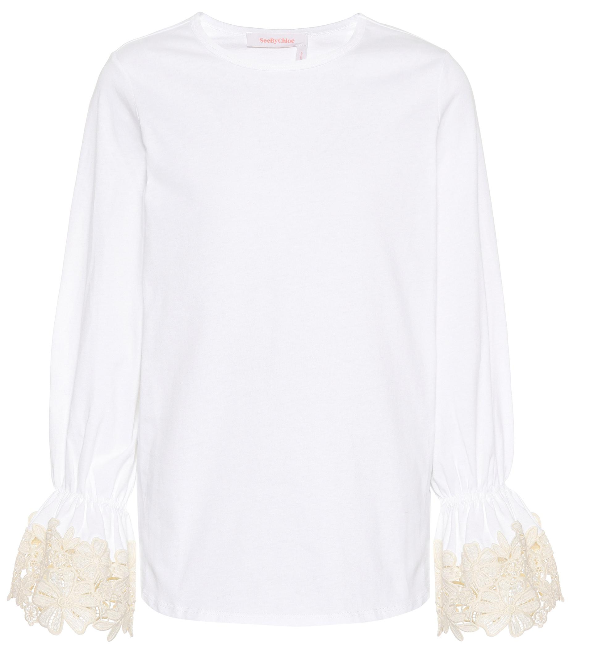 a2c392dce5d Lyst - See By Chloé Cotton Top in White