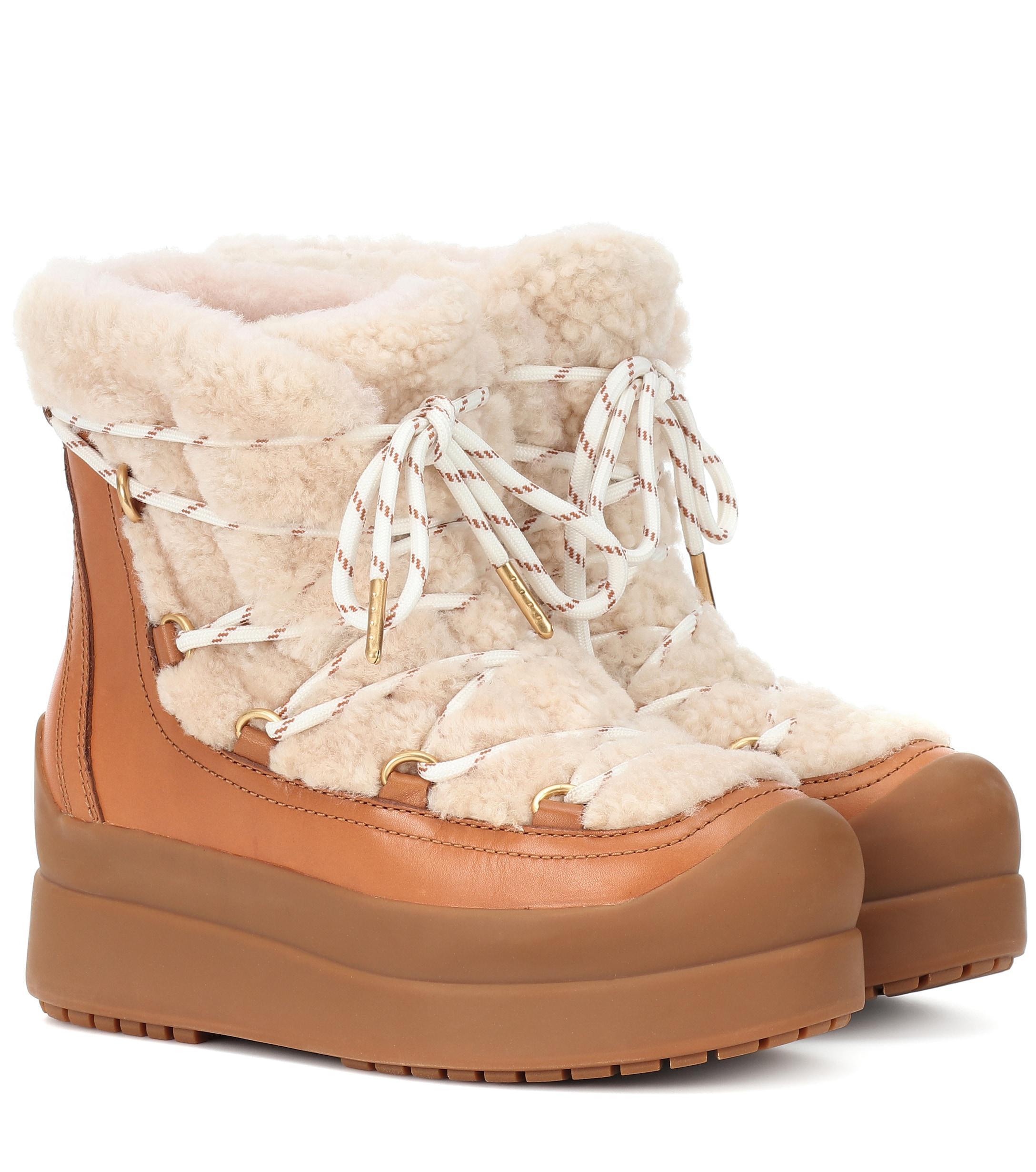 9da613b20 Tory Burch. Women s Courtney 60mm Shearling Ankle Boots