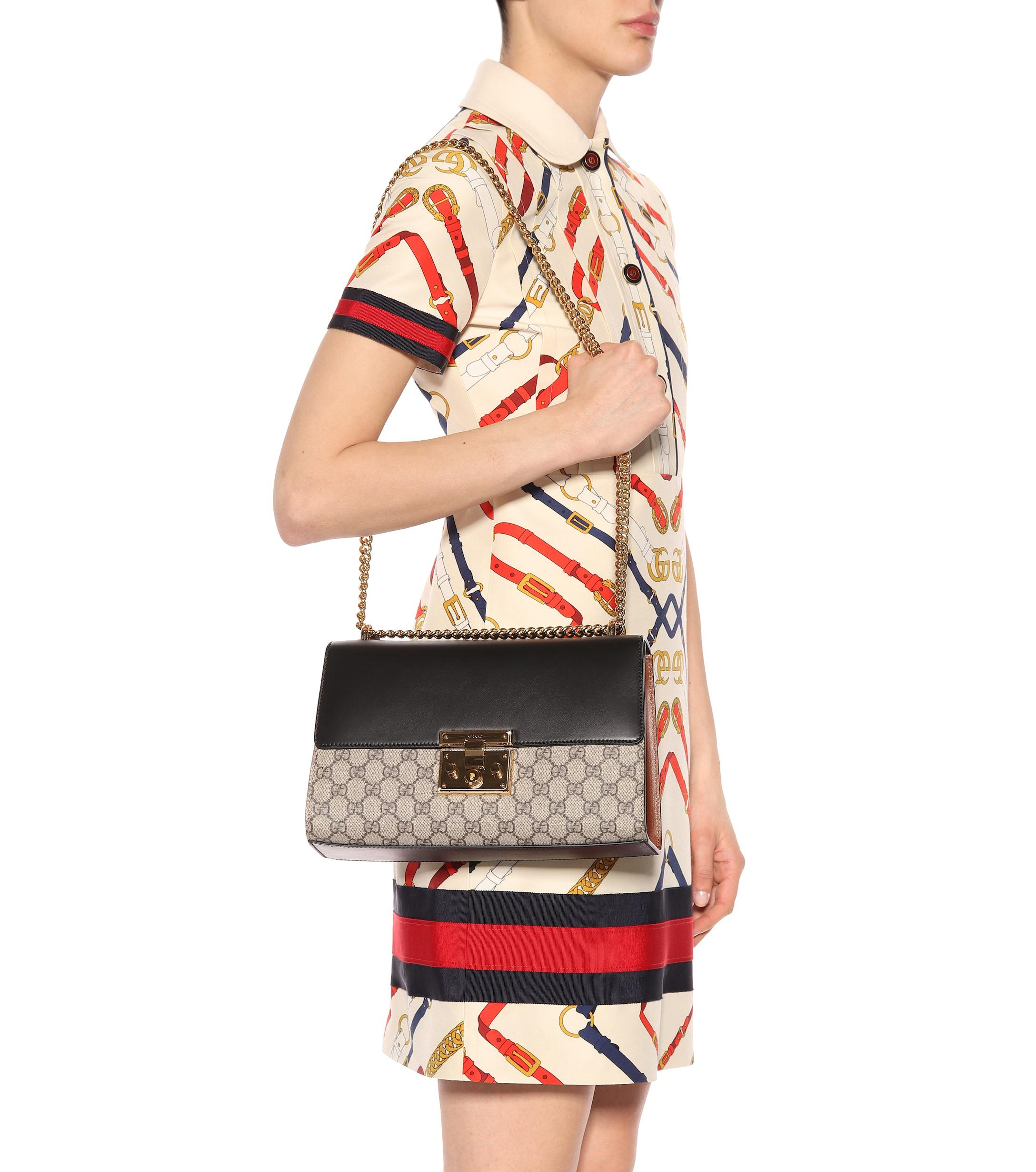 eb3aa694d82f Gucci - Multicolor Padlock GG Supreme Medium Shoulder Bag - Lyst. View  fullscreen