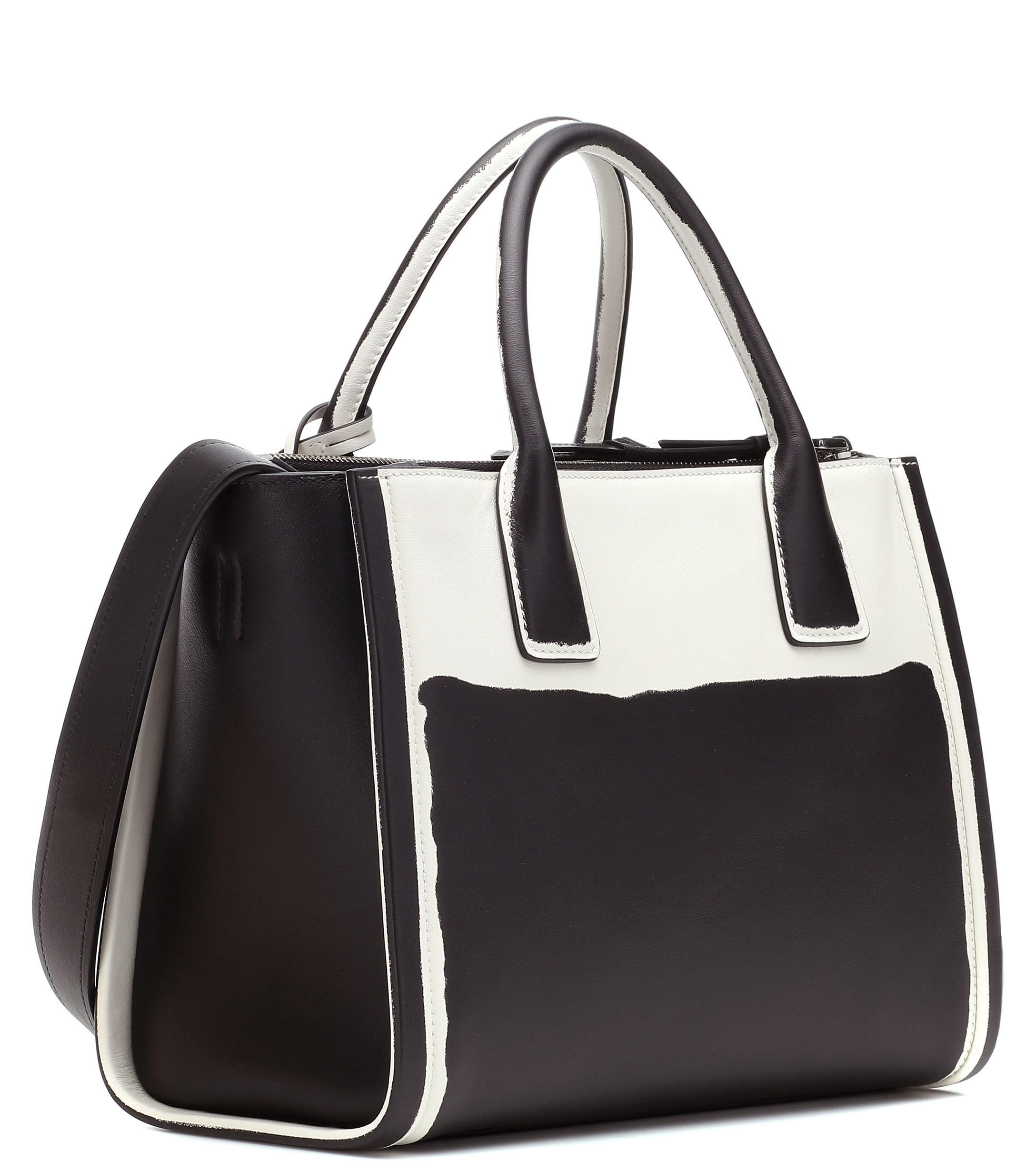 289987429787 Prada Concept Galleria Leather Tote in Black - Lyst