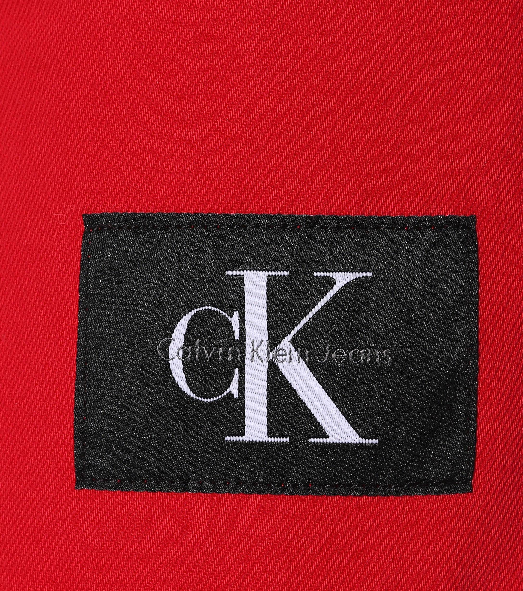 829732ffd06f Calvin Klein Denim Miniskirt in Red - Lyst