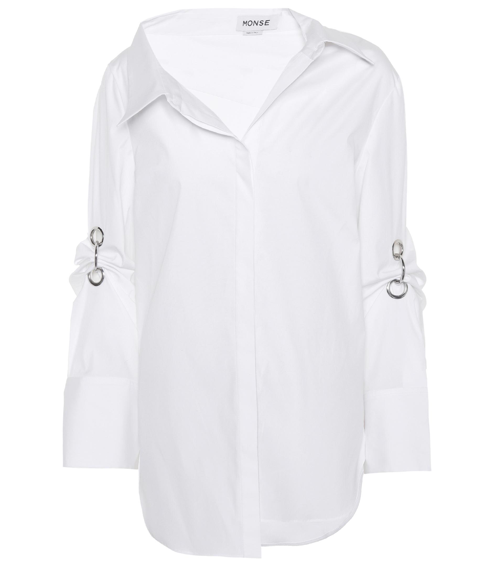 Layered stretch-cotton shirt Monse Clearance Wiki Shop Offer F2BtMy6meb