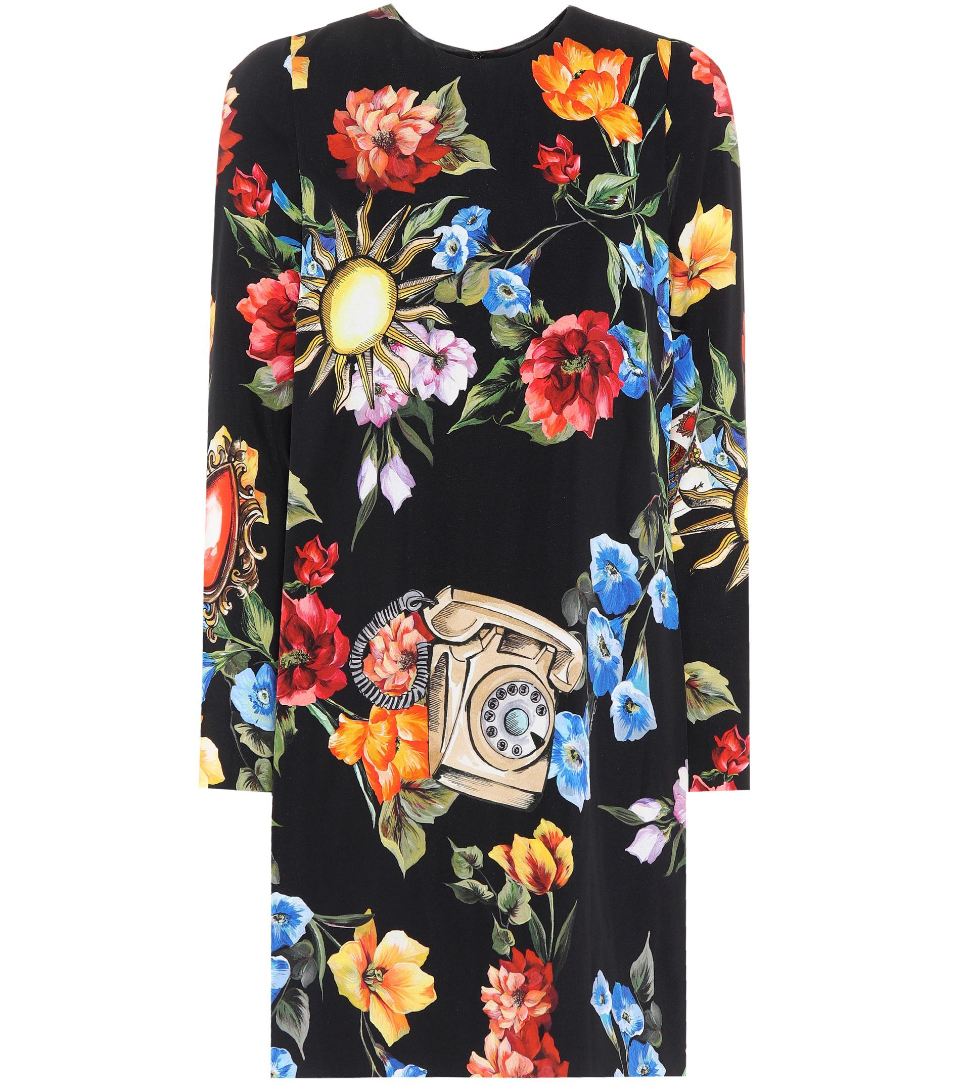 Telephone floral dress Dolce & Gabbana Cheap Cost GopKn