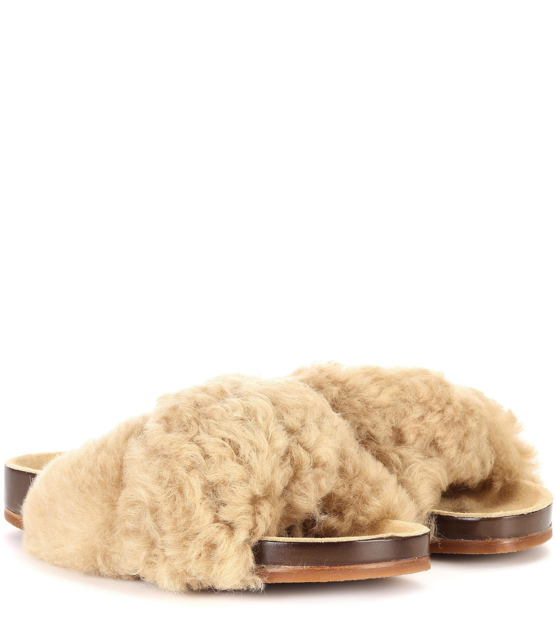 Chloé Exclusive to mytheresa.com – Fur slides outlet countdown package rLHnUvMyi