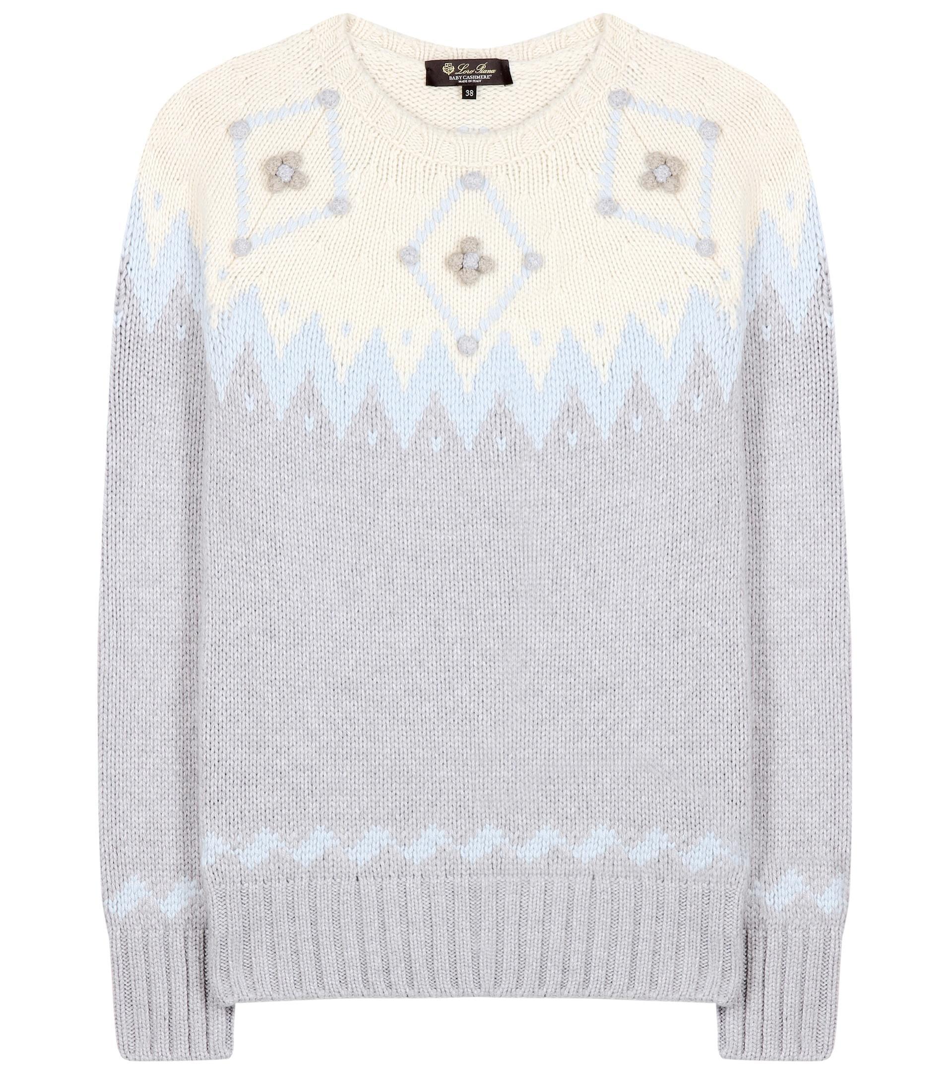 e67adacf1105 Lyst - Loro Piana Wetterhorn Cashmere Sweater in White