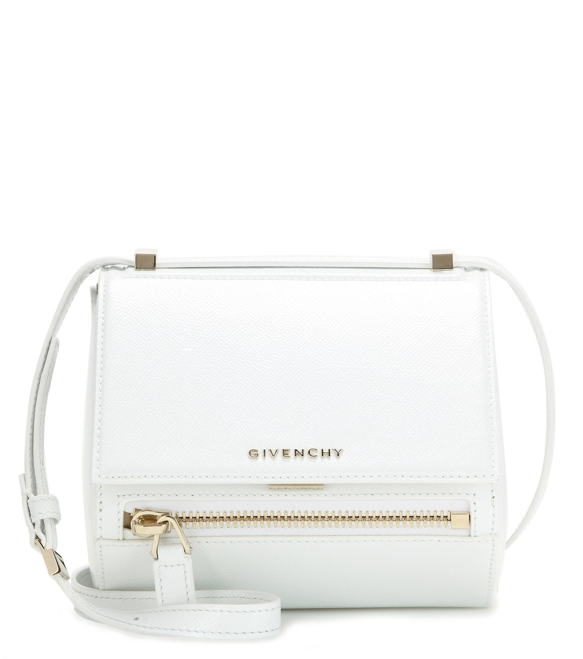 Lyst - Givenchy Pandora Box Mini Leather Shoulder Bag in White 74cc268b09e9f