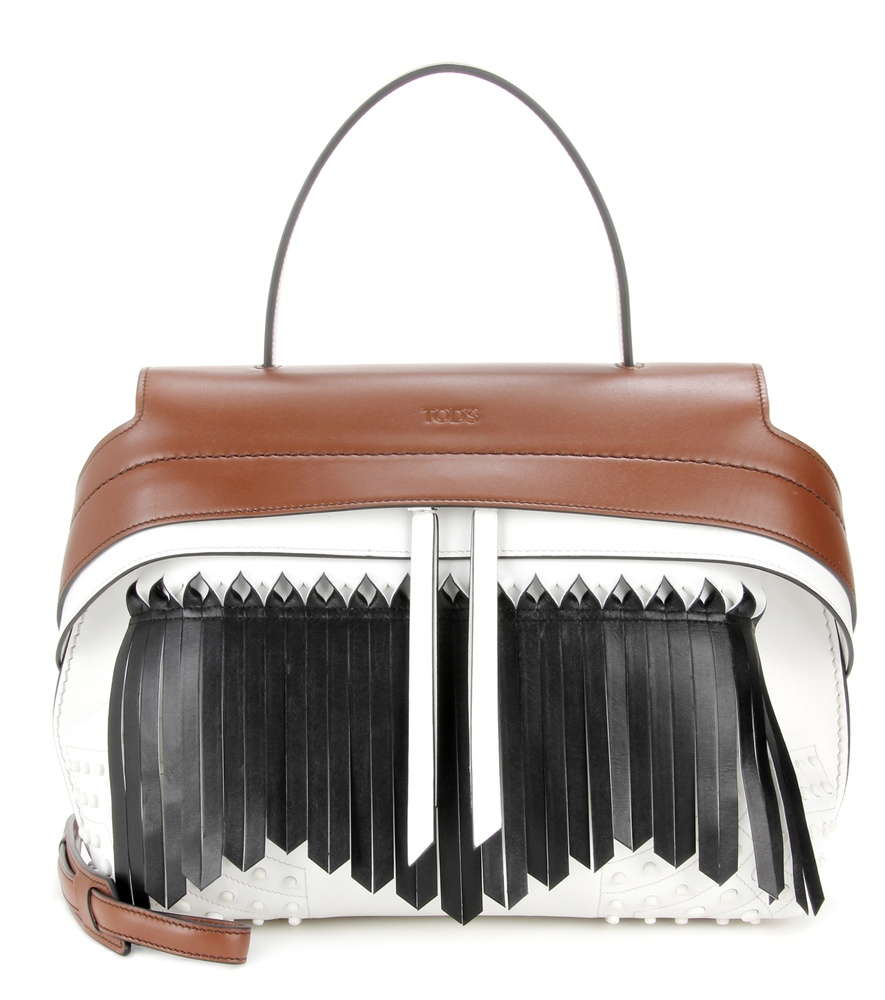 6d8539a7775 Tod's Wave Small Fringed Leather Tote in Brown - Lyst