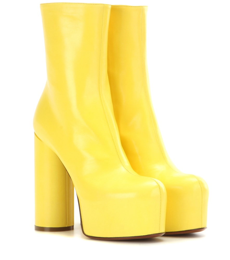 10614234d3a Lyst - Vetements Leather Platform Boots in Yellow