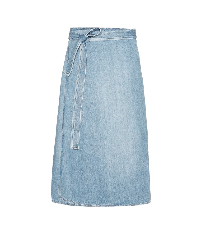 citizens of humanity donna denim wrap skirt in blue lyst