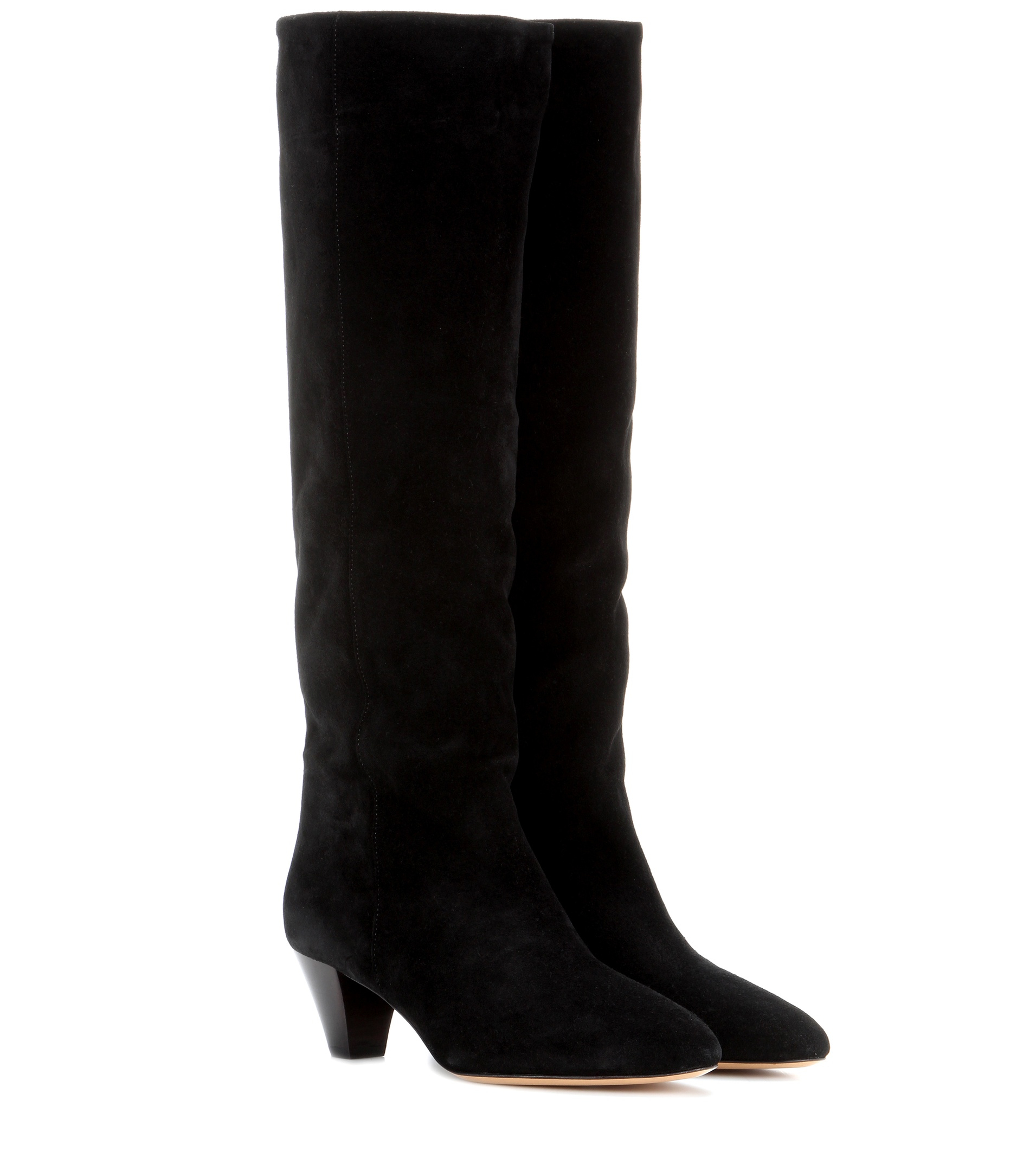 isabel marant toile robby suede knee high boots in black lyst. Black Bedroom Furniture Sets. Home Design Ideas