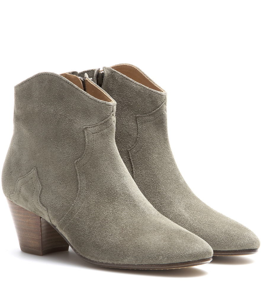 marant toile dicker suede ankle boots in