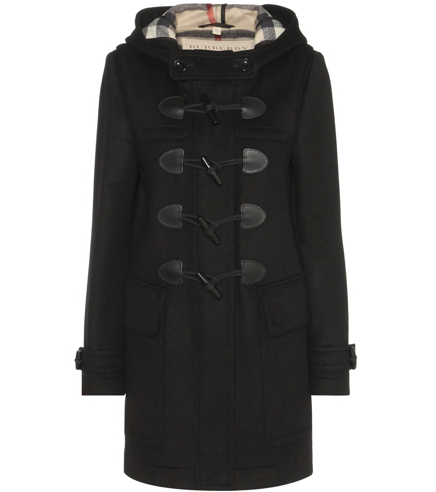 burberry brit finsdale wool duffle coat in black lyst. Black Bedroom Furniture Sets. Home Design Ideas