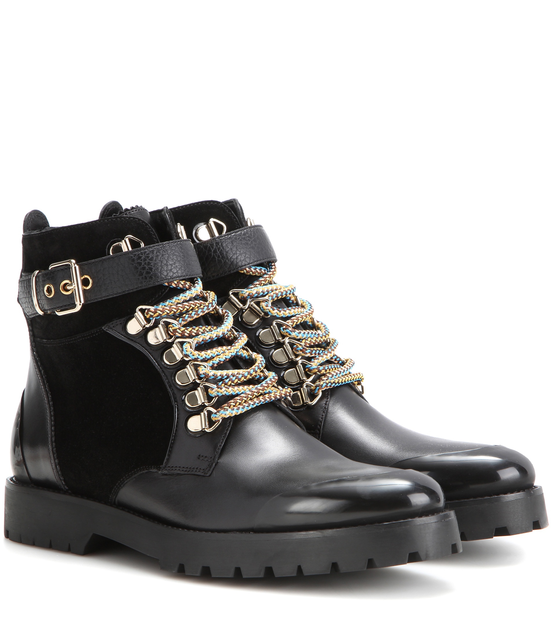 4d086c8eb28 Burberry LF Wolverson Leather Ankle Boots in Black - Lyst