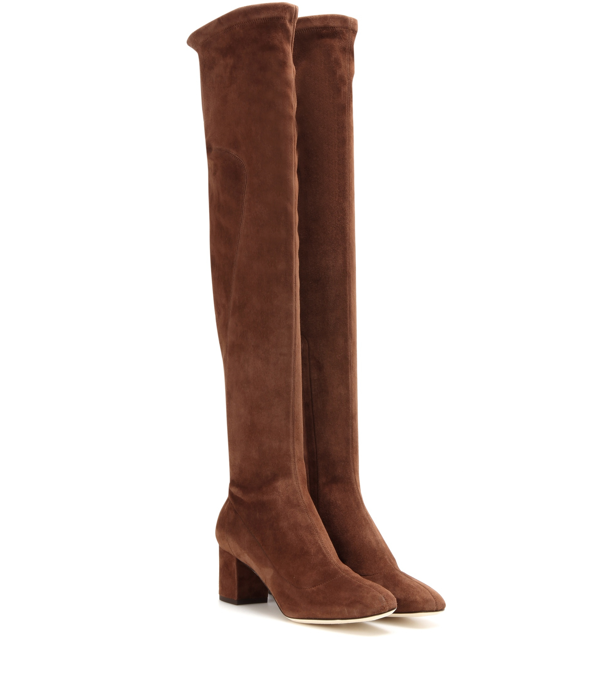 dolce gabbana suede the knee boots in brown lyst
