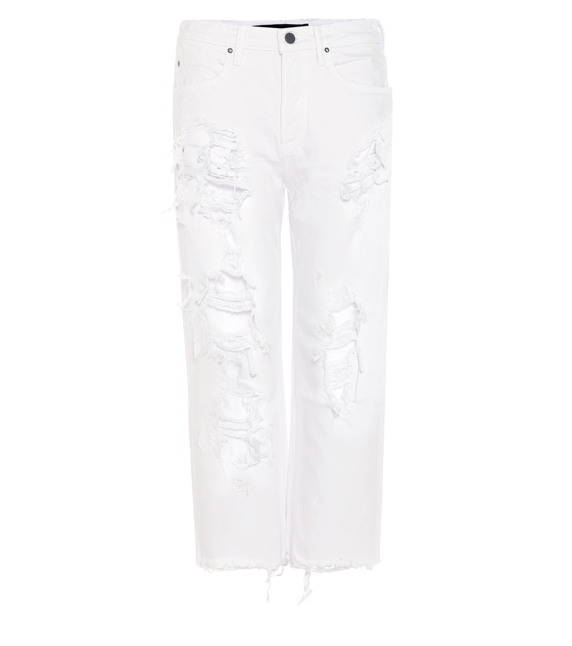 9b04612dc4e4 Lyst - Alexander Wang Wisteria Distressed Jeans in White