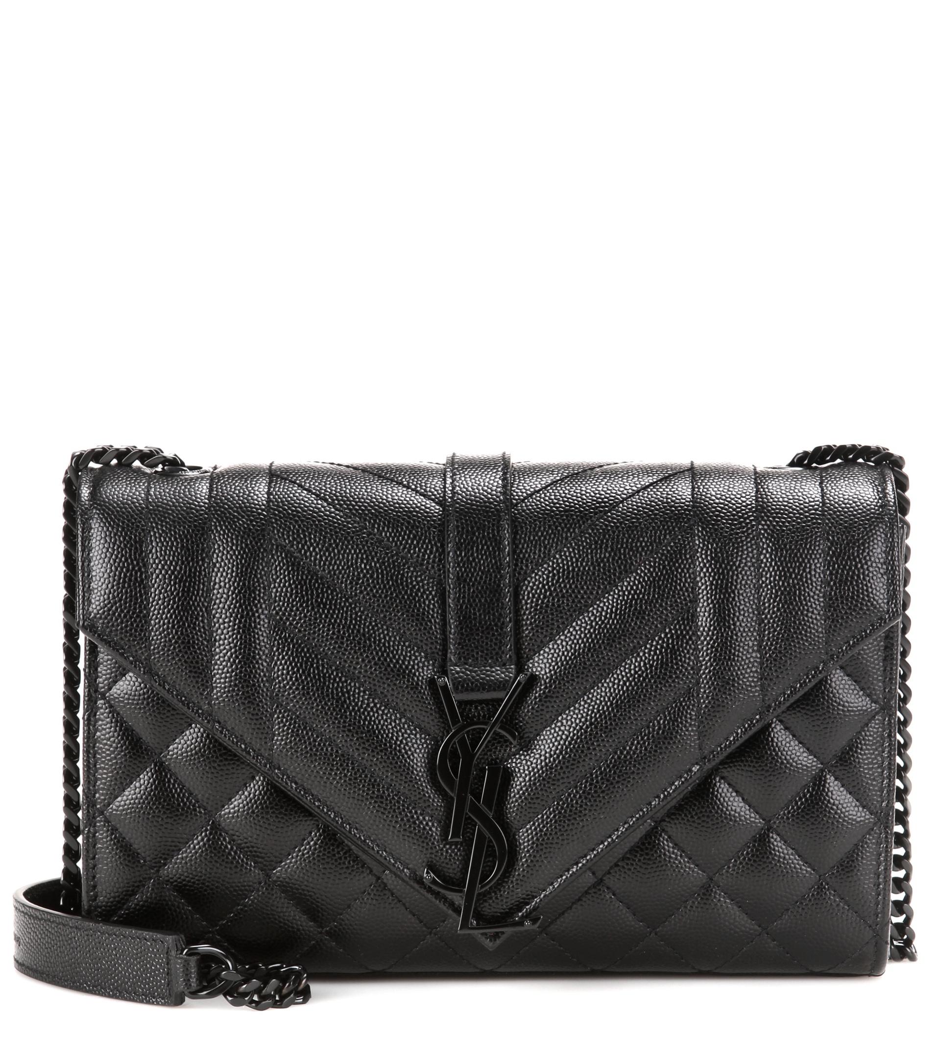 Saint Laurent Medium Monogram Tri Quilted Leather Shoulder