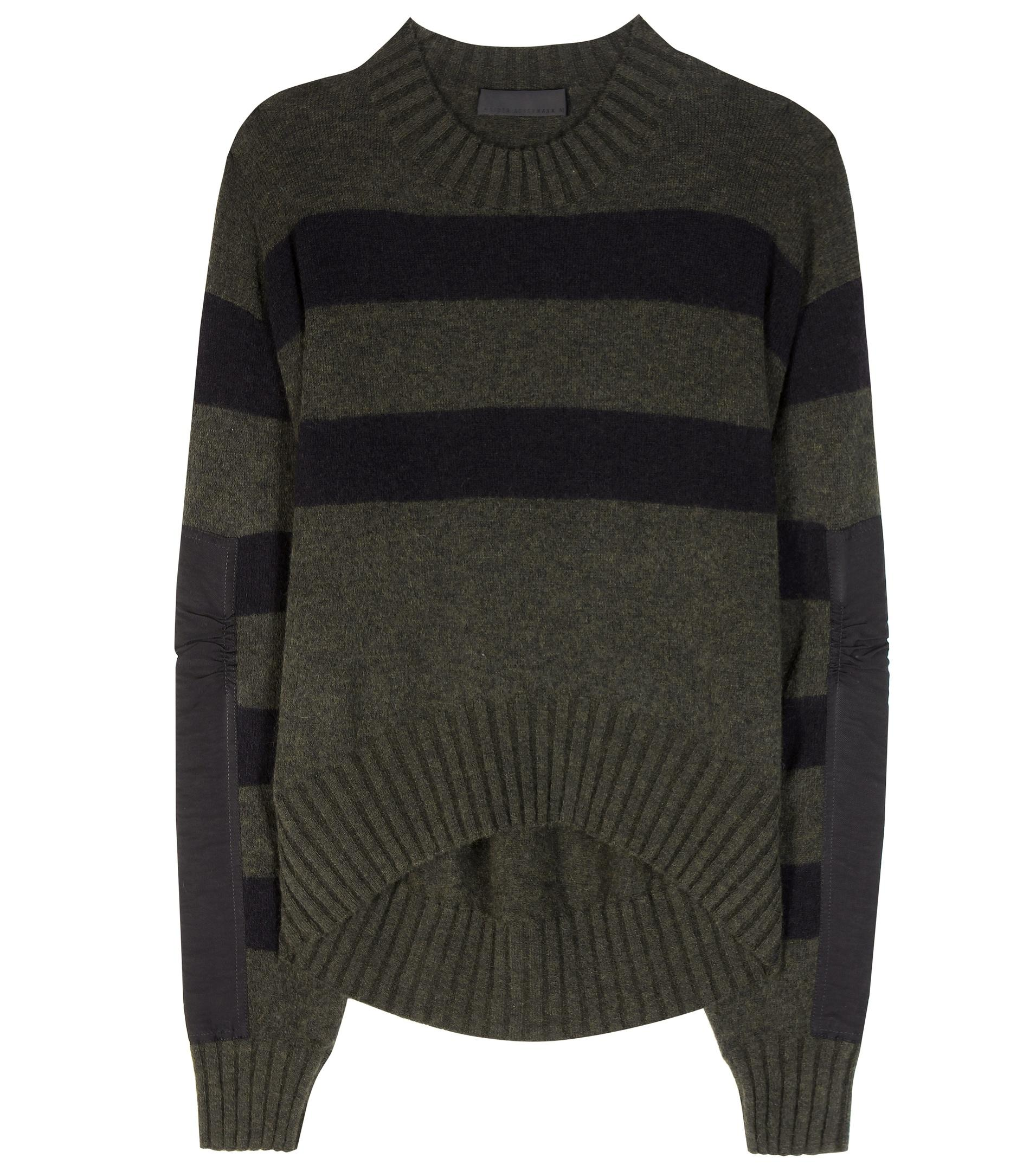 haider ackermann striped mohair and wool blend sweater in. Black Bedroom Furniture Sets. Home Design Ideas