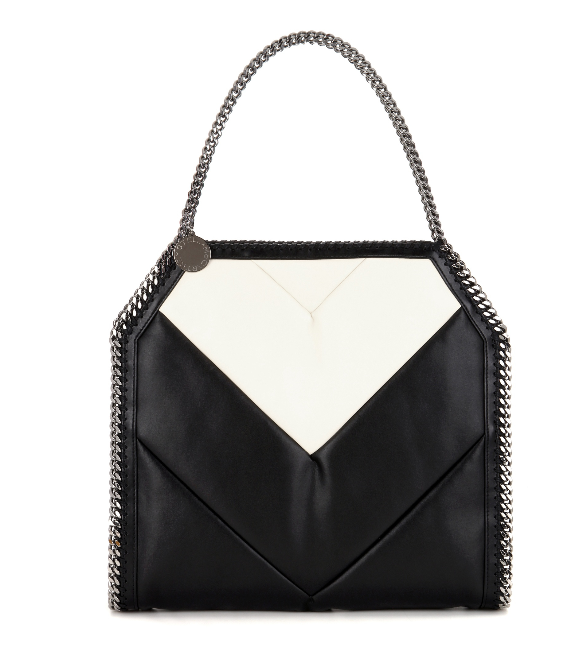 cc20661a85 Lyst - Stella Mccartney Falabella Quilted Small Tote Bag in Black