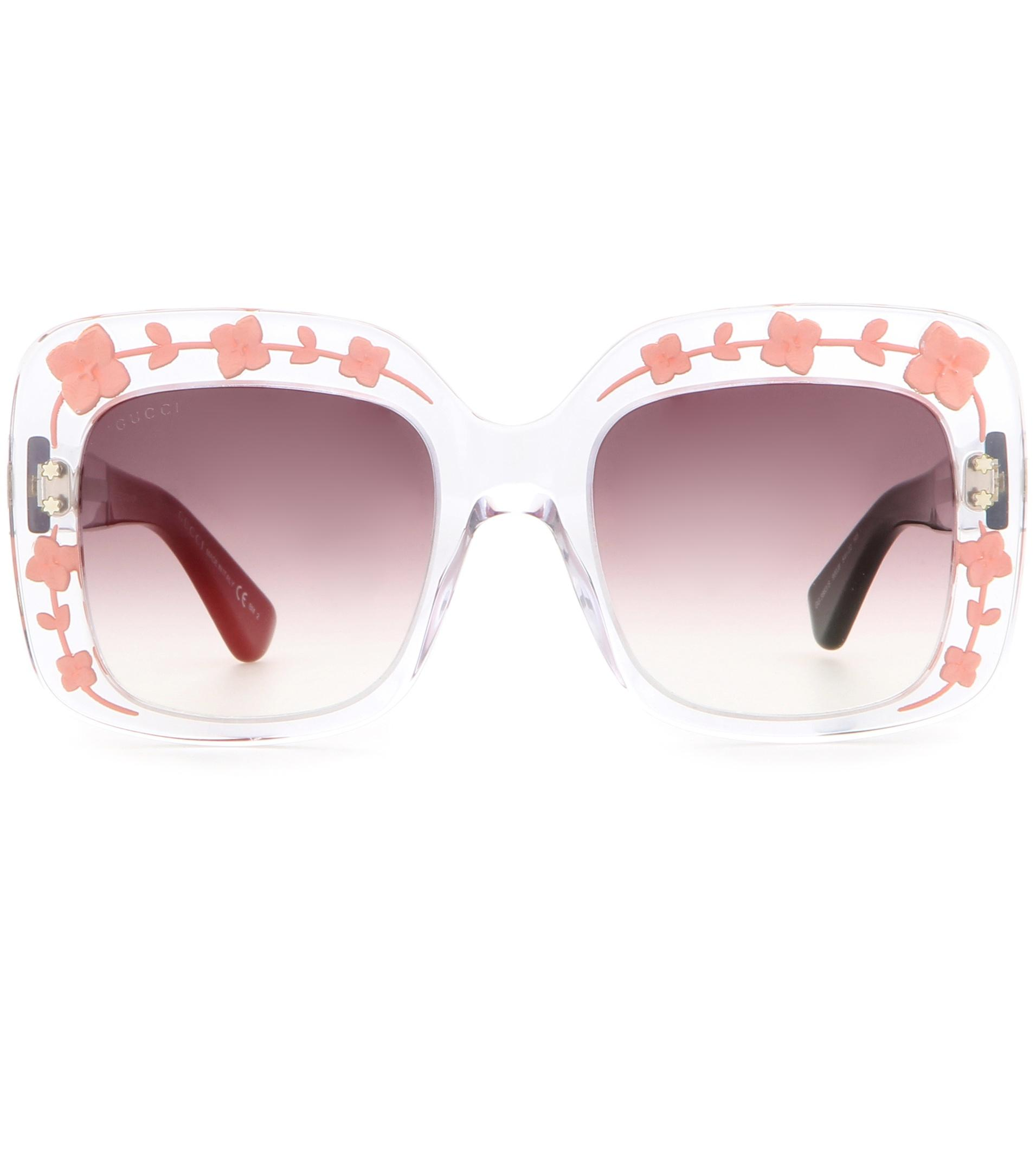 dd9ee0a2bde Gucci Oversized Square Sunglasses in Pink