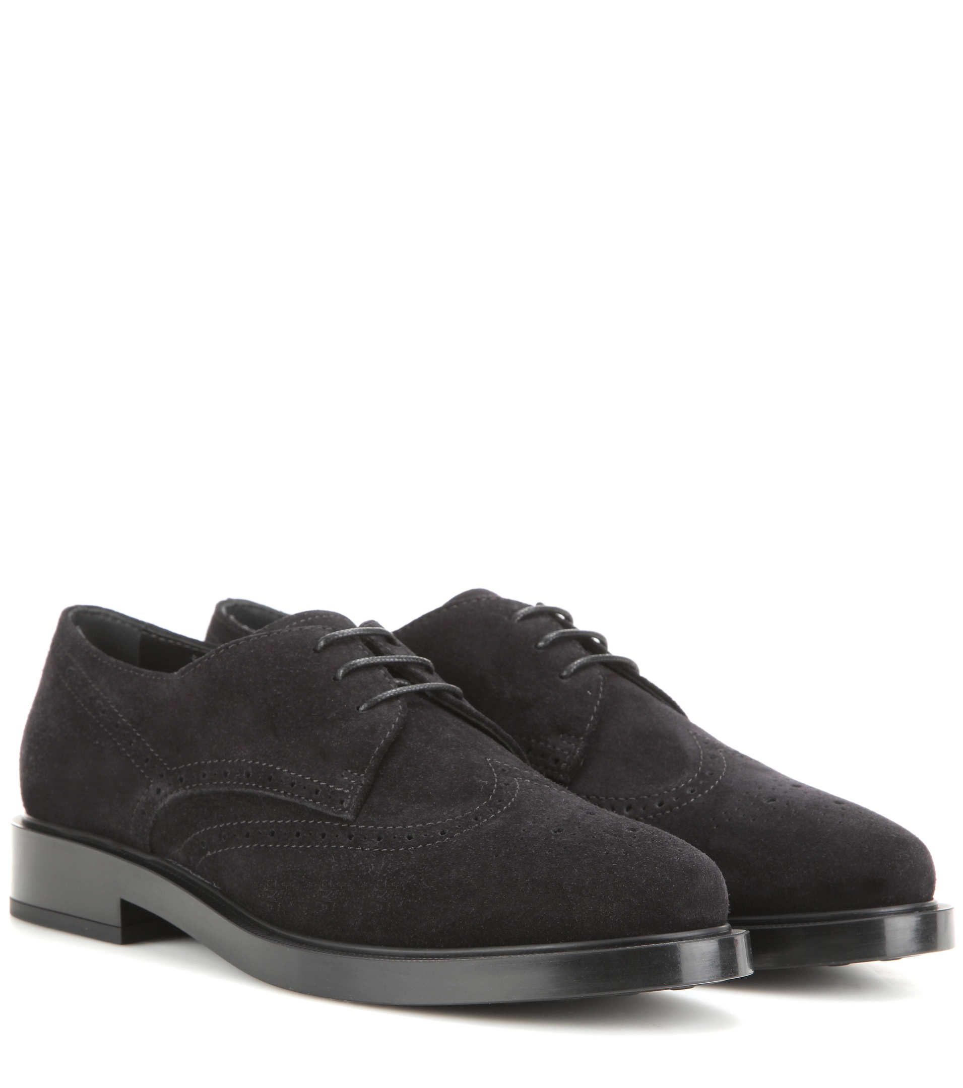 tod s suede derby shoes in black lyst