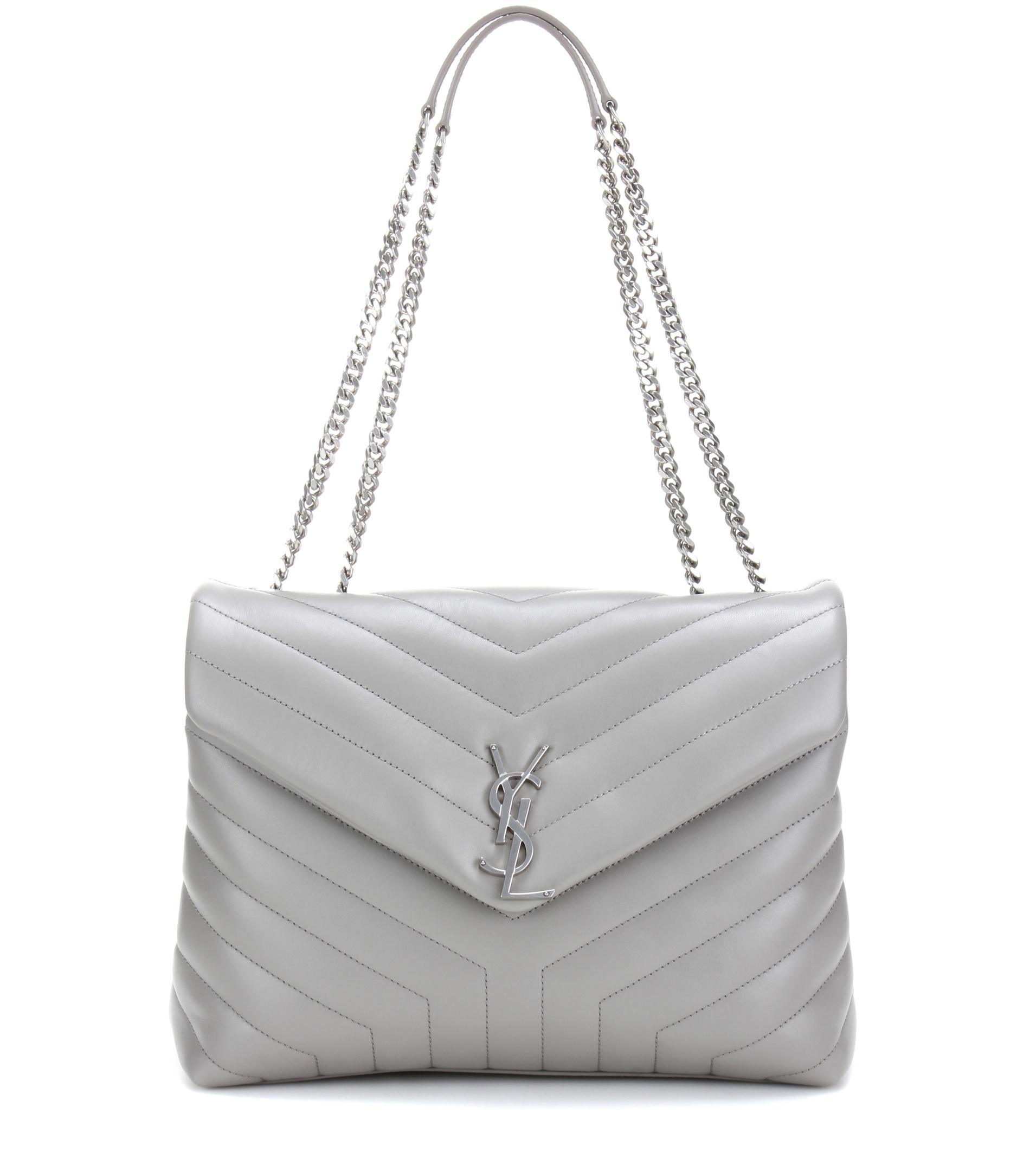 Saint laurent Loulou Medium Quilted Leather Shoulder Bag ...