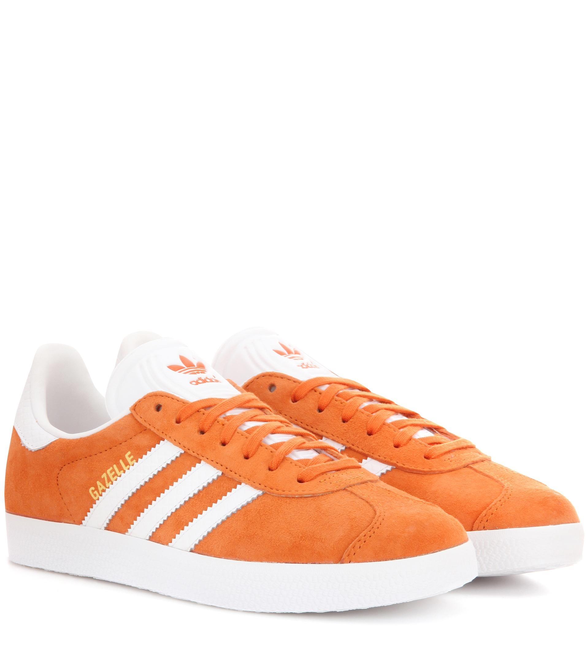 lyst adidas originals gazelle suede sneakers in orange. Black Bedroom Furniture Sets. Home Design Ideas