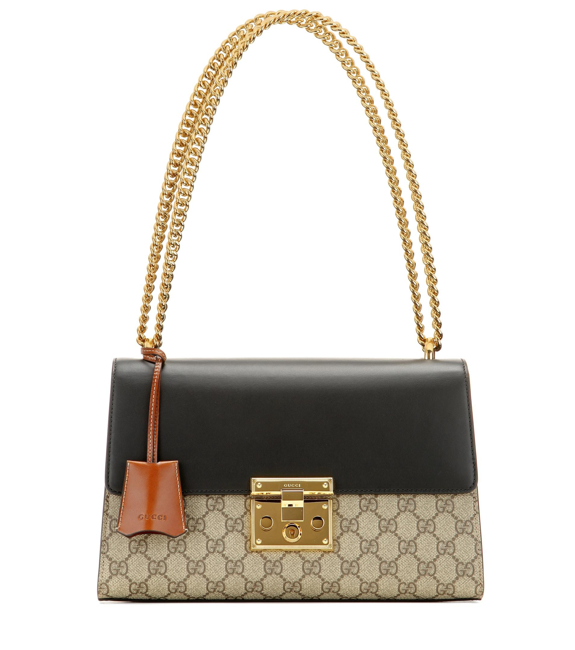 Gucci Padlock Gg Supreme Medium Leather And Coated Canvas ...