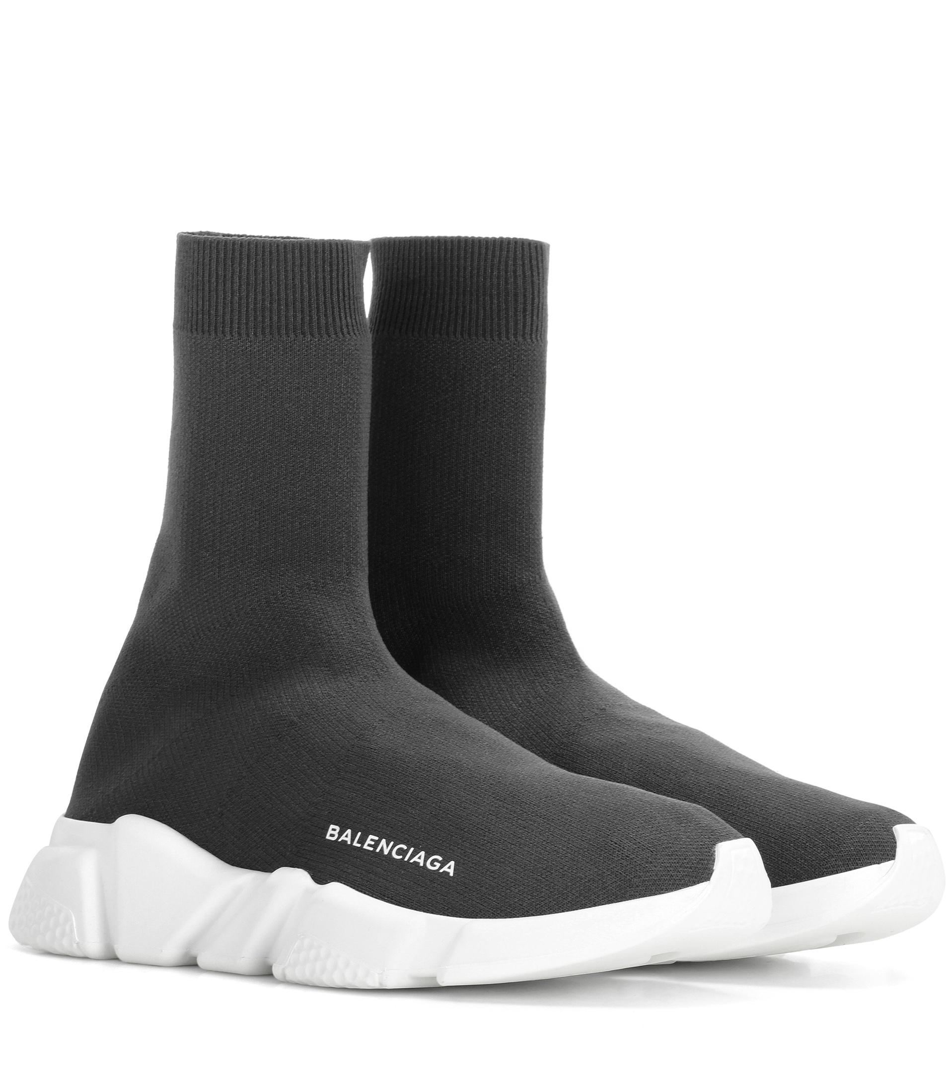 d0f237472a Balenciaga Speed Sneakers in Gray - Lyst