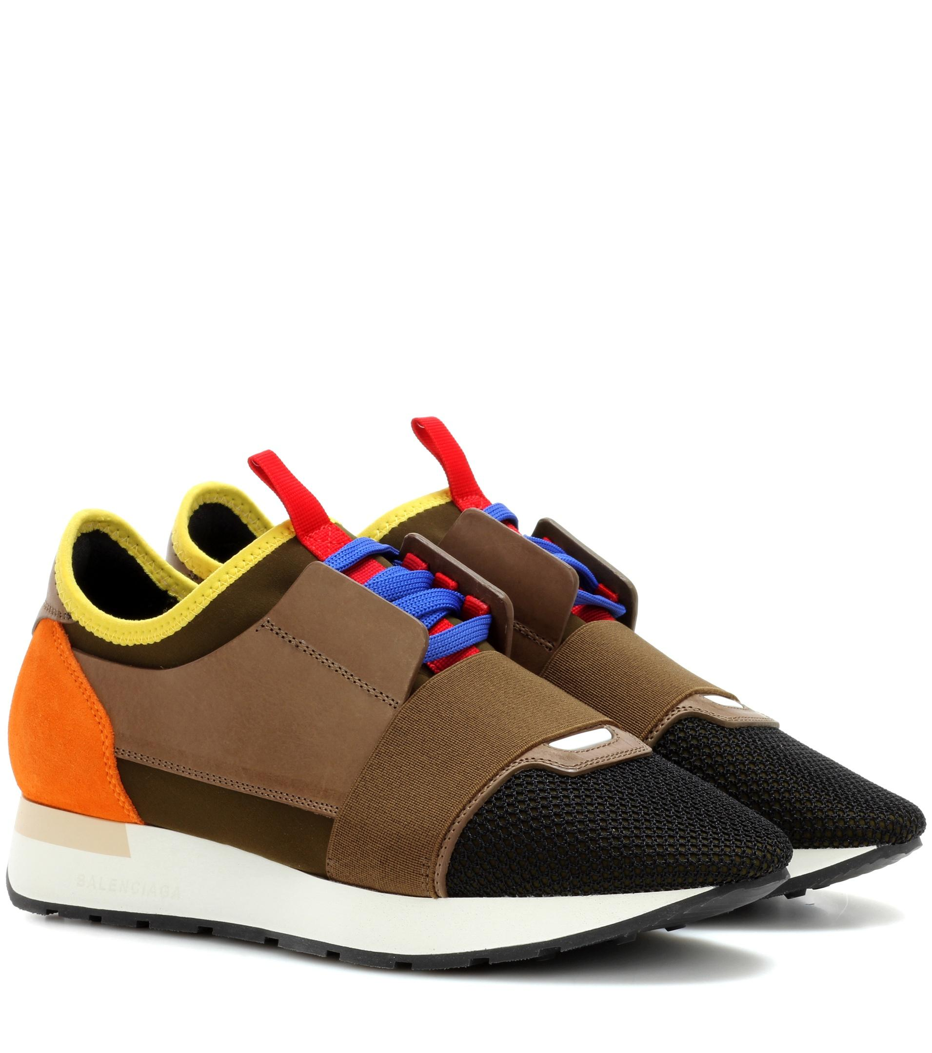 54decb45bdf0 Lyst - Balenciaga Race Runner Sneakers in Green