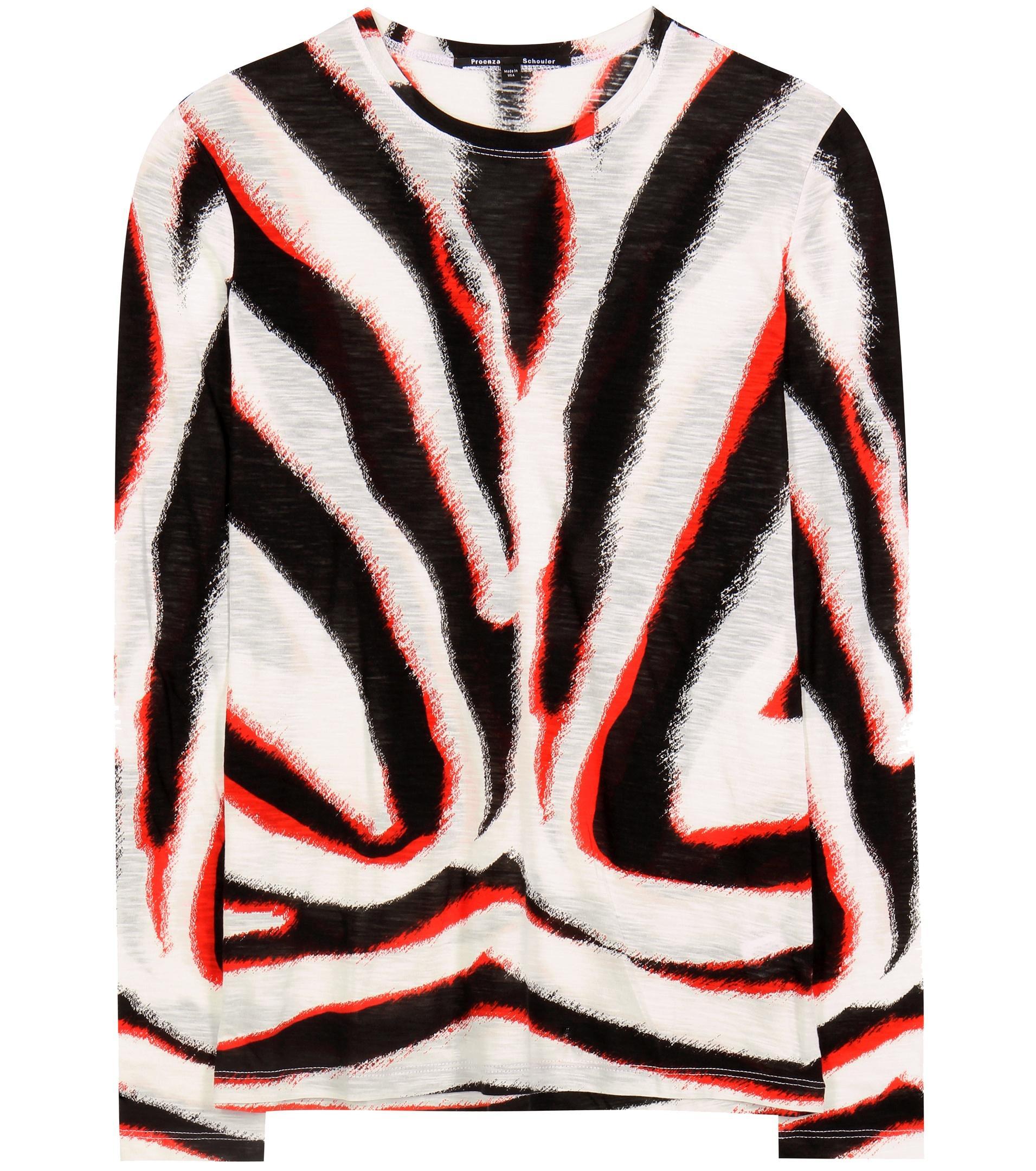 962151f6e0 Proenza Schouler Cotton Top in Red - Lyst