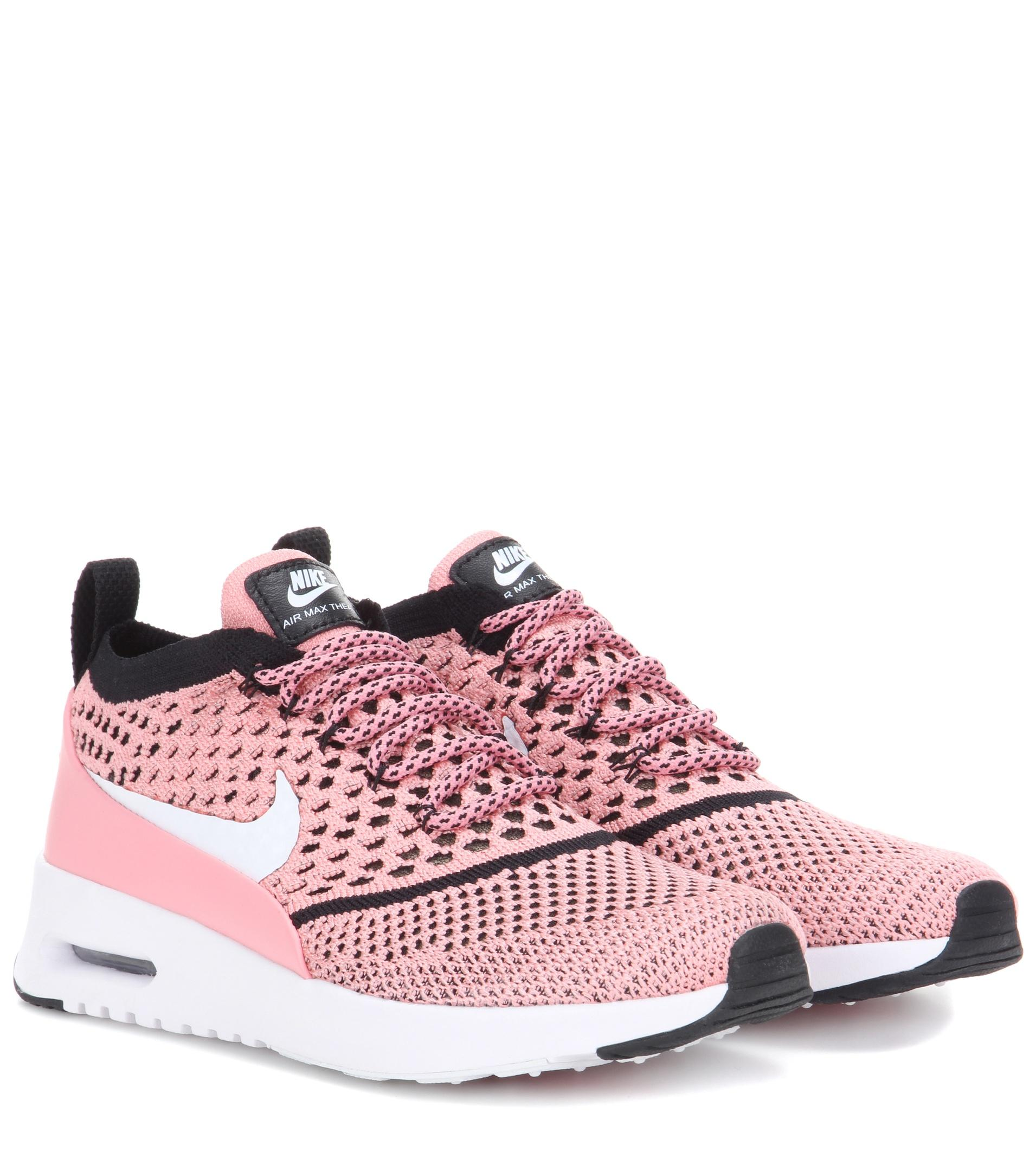 636fe85ad1ad Lyst - Nike Air Max Thea Ultra Flyknit Sneakers in Pink