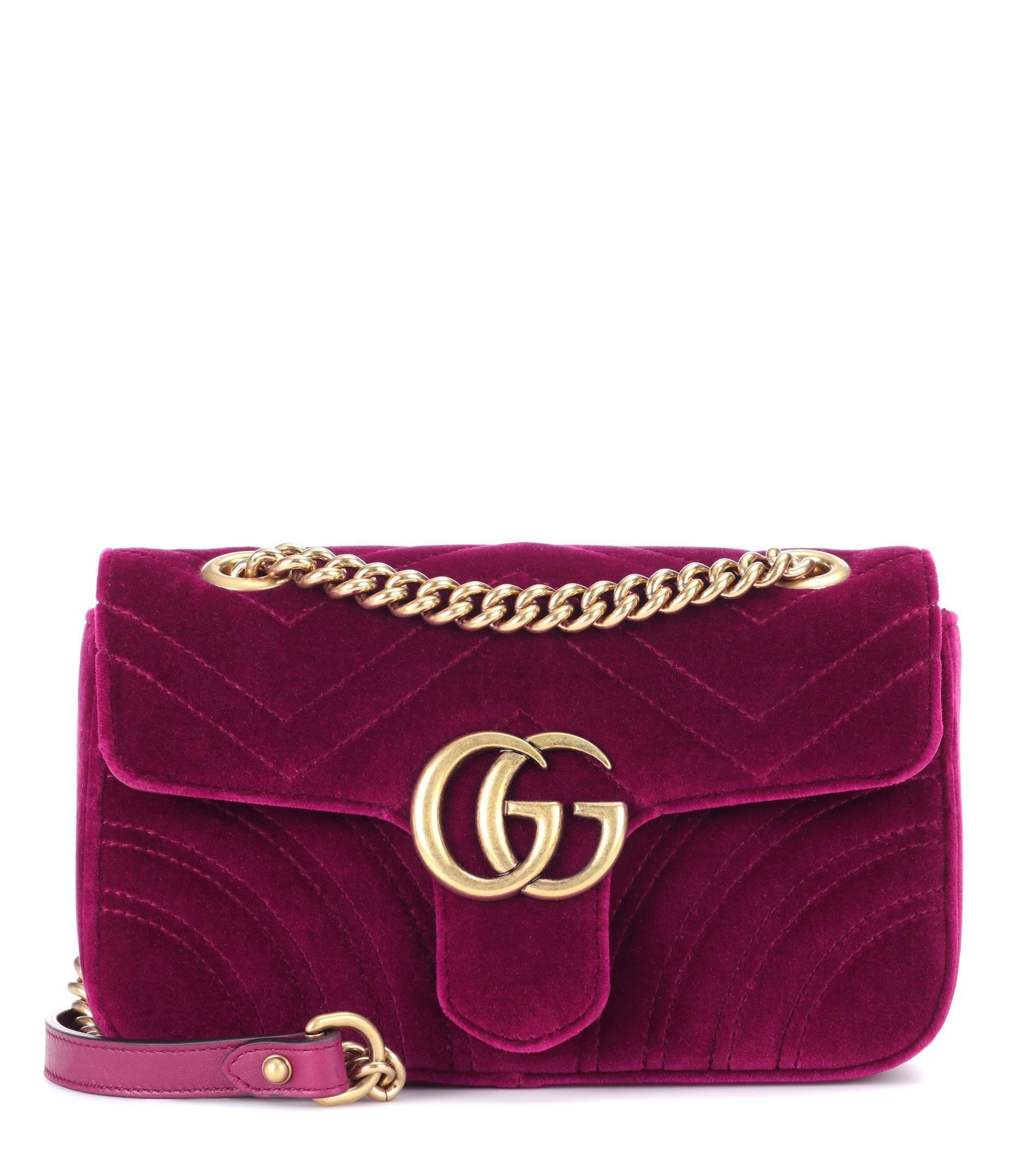 e67838f2e649 Gucci Purple Velvet Marmont Bag | Stanford Center for Opportunity ...