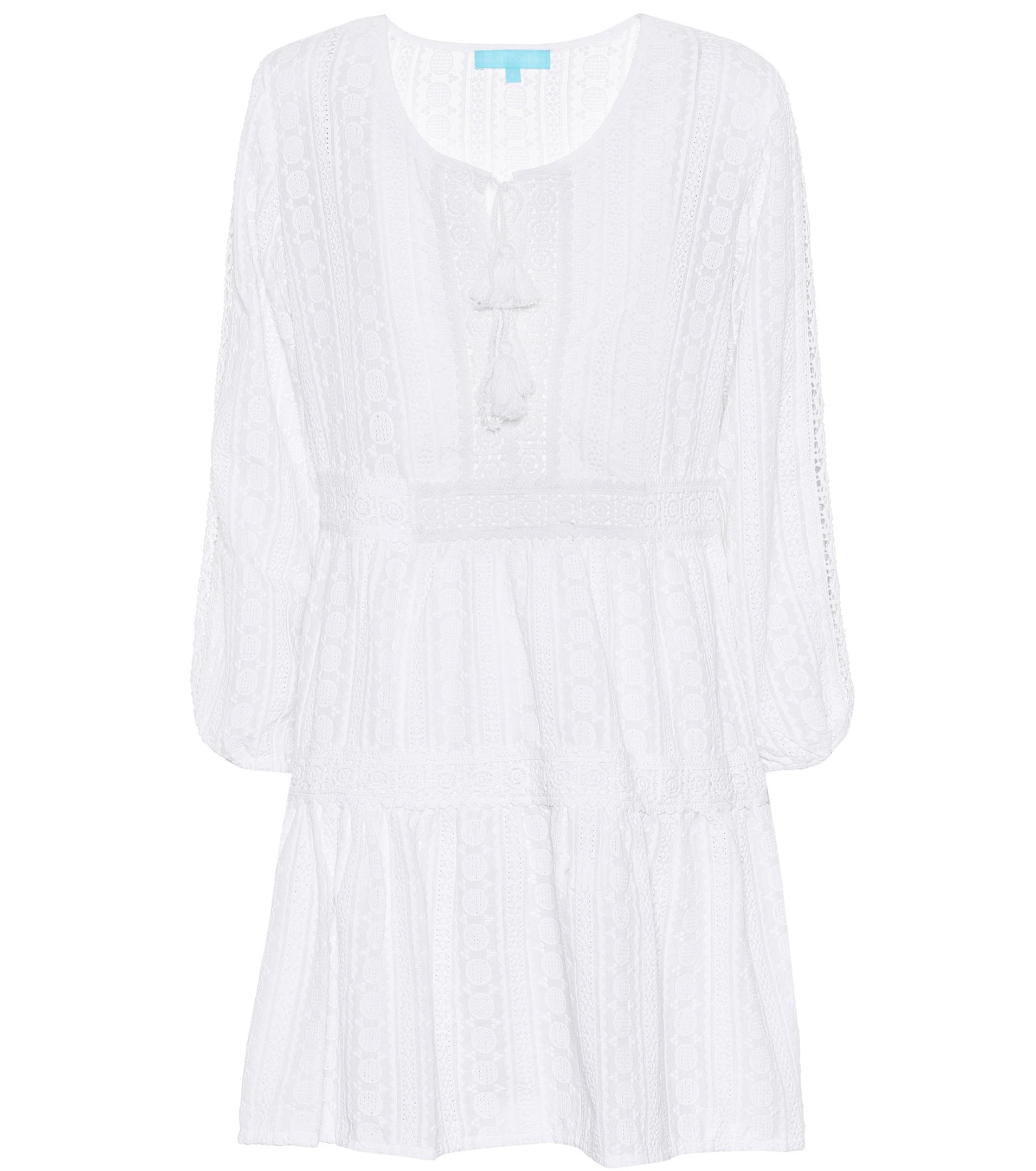 Reid V-neck embroidered cotton dress Melissa Odabash OjvaDHF