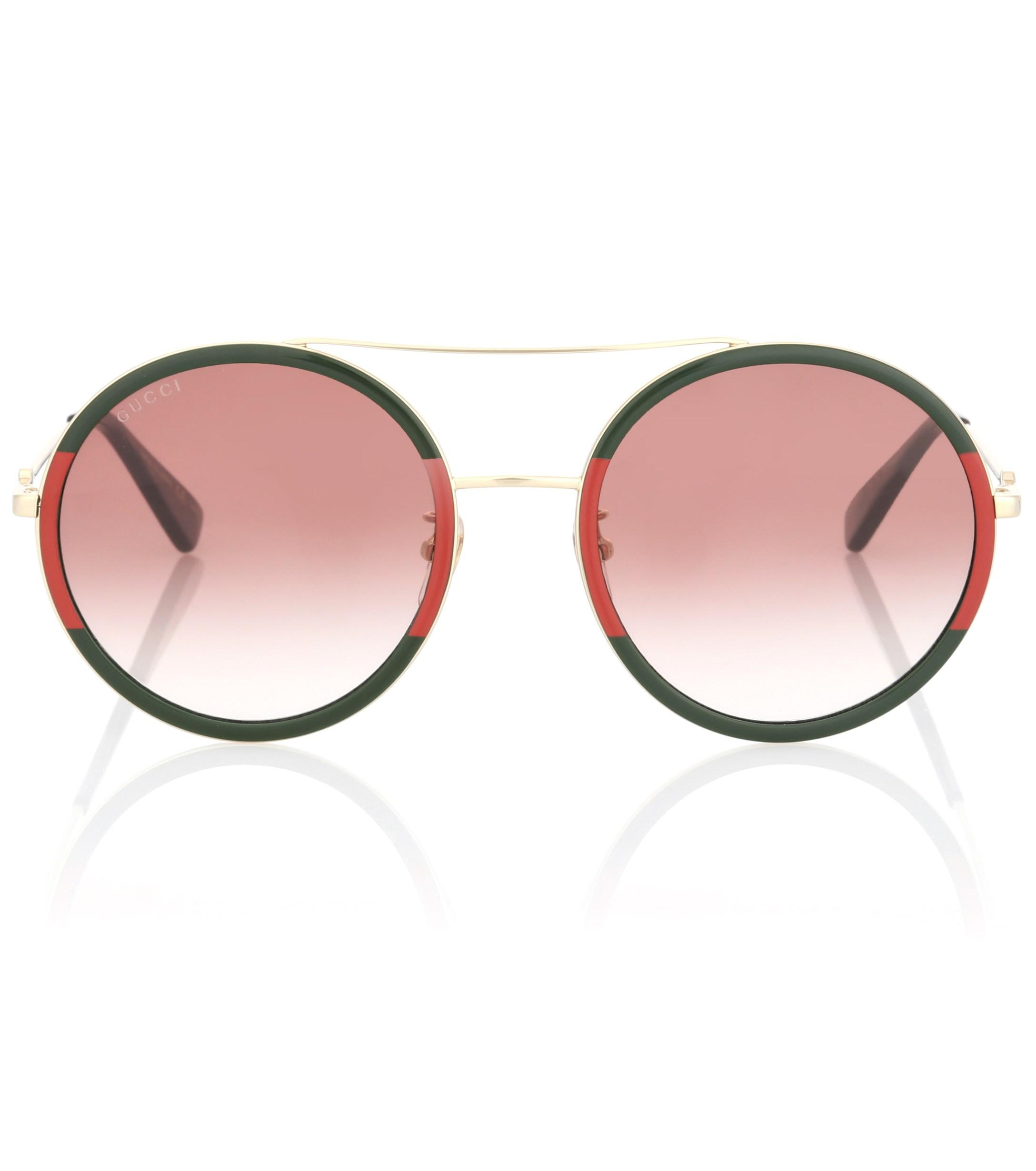 bfdb42aa366 Gucci Exclusive To Mytheresa.com – Round Sunglasses in Green - Lyst