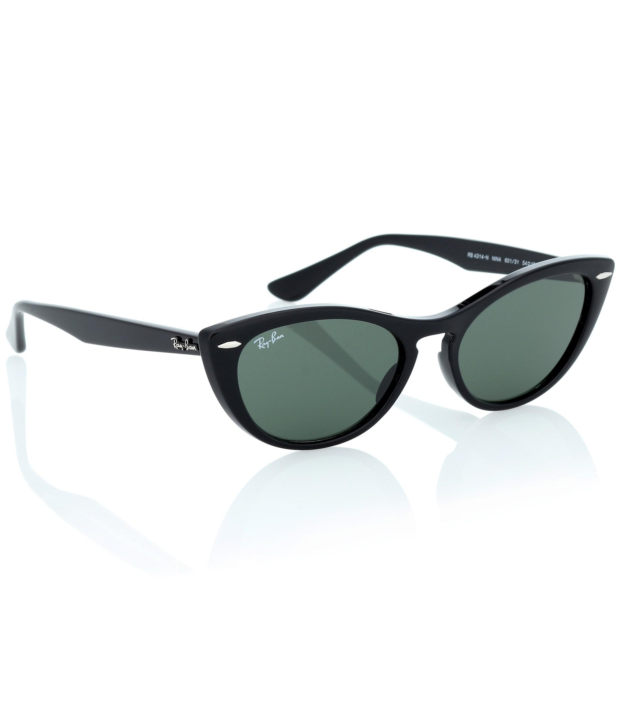 37182e42aa3 Ray-Ban - Black Nina Cat-eye Acetate Sunglasses - Lyst. View fullscreen