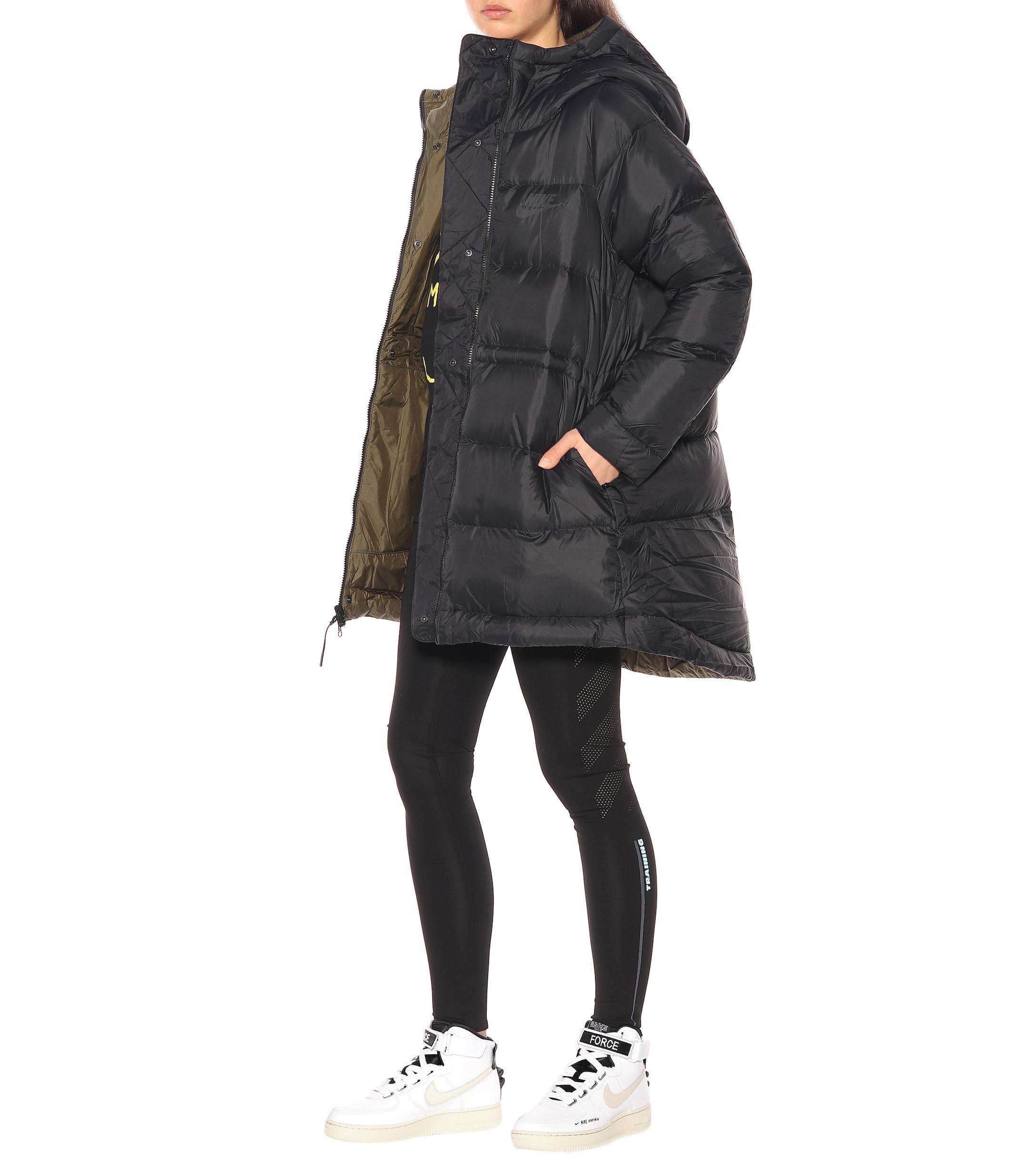 new products 4f9cf 112d8 Lyst Coloris En Nike Sportswear Manteau Doudoune Noir Réversible qxvwrPqnY