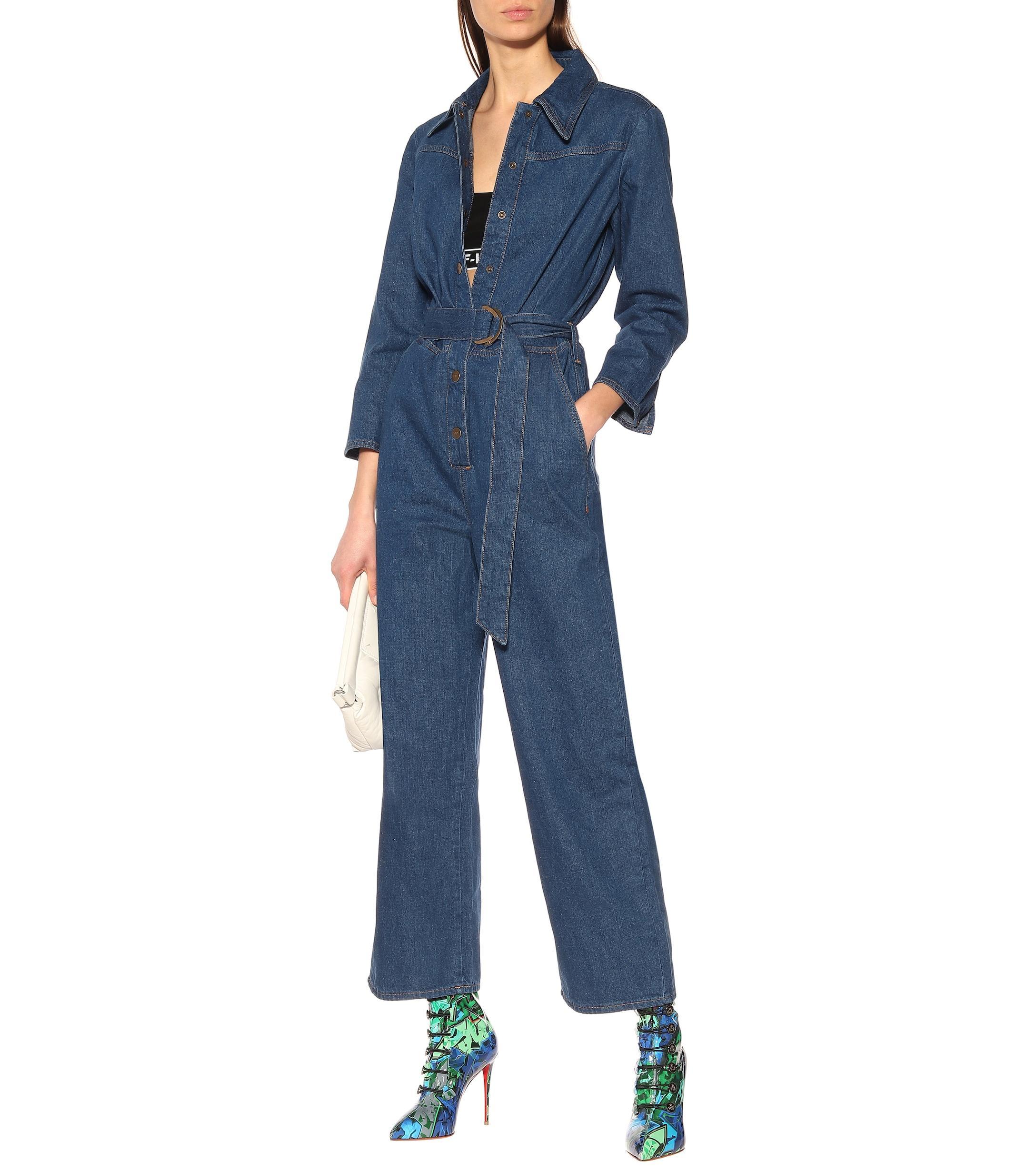2e3b394ac55 MiH Jeans - Blue Harper Denim Jumpsuit - Lyst. View fullscreen