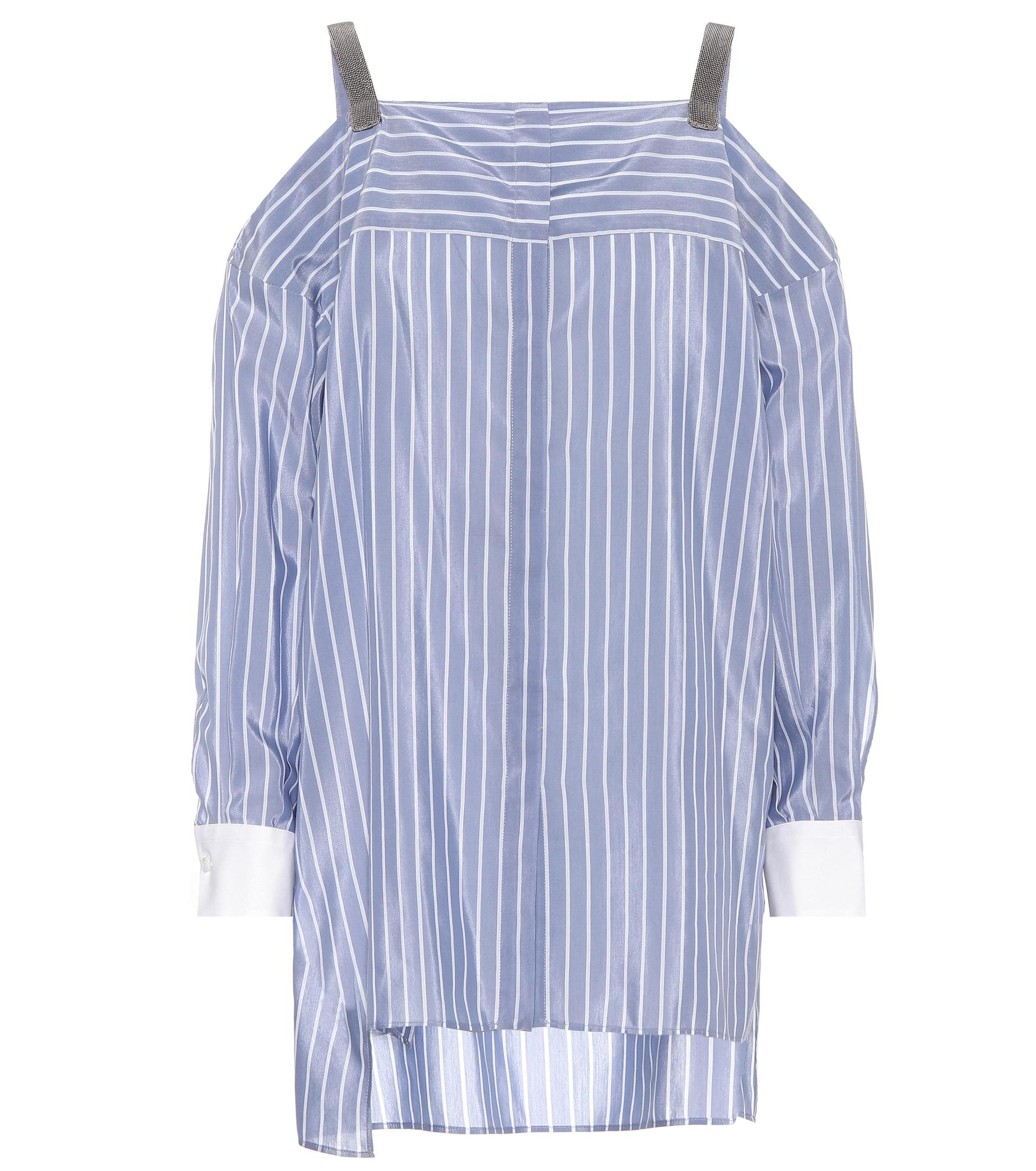 Cotton and silk off-the-shoulder top Brunello Cucinelli Footlocker Cheap Price Explore Cheap Online Cheap New Visit APuFMYJNb