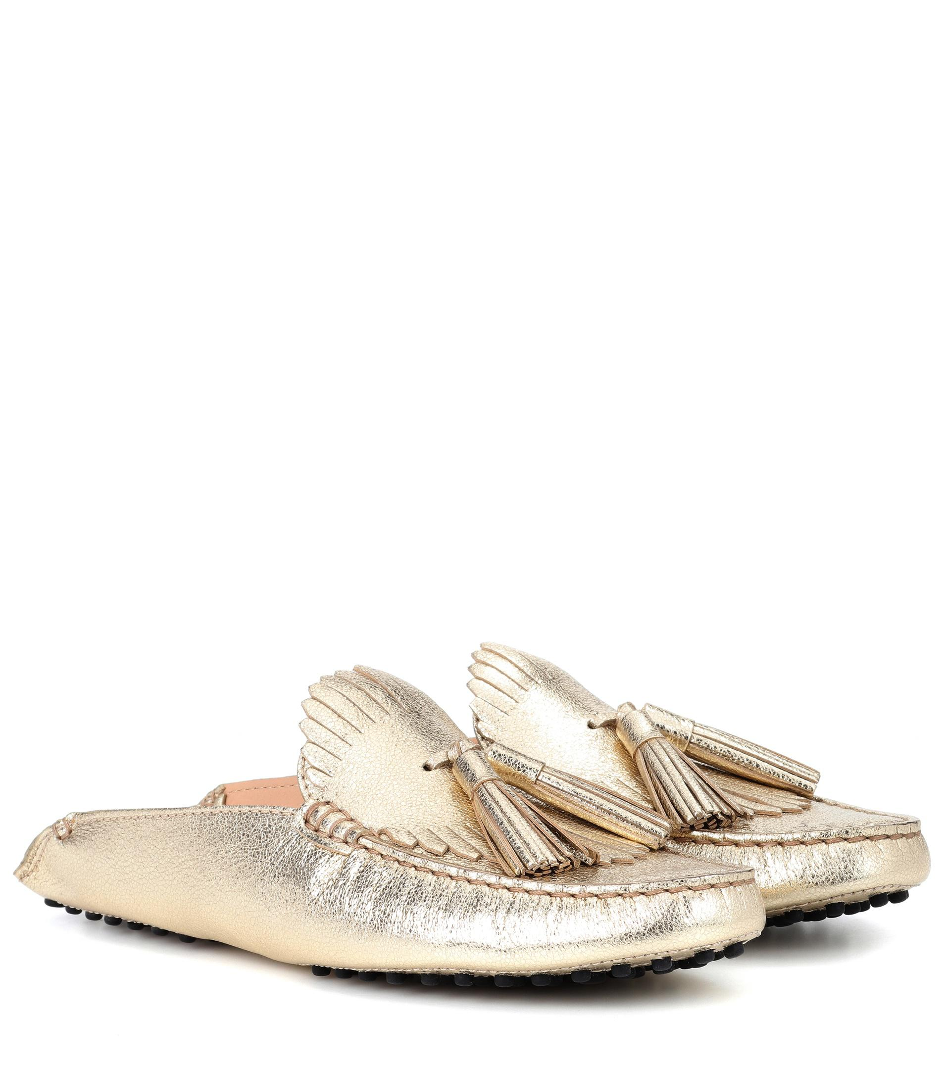 Tods Gommino Metallic Leather Dr... cheap visa payment aed9t