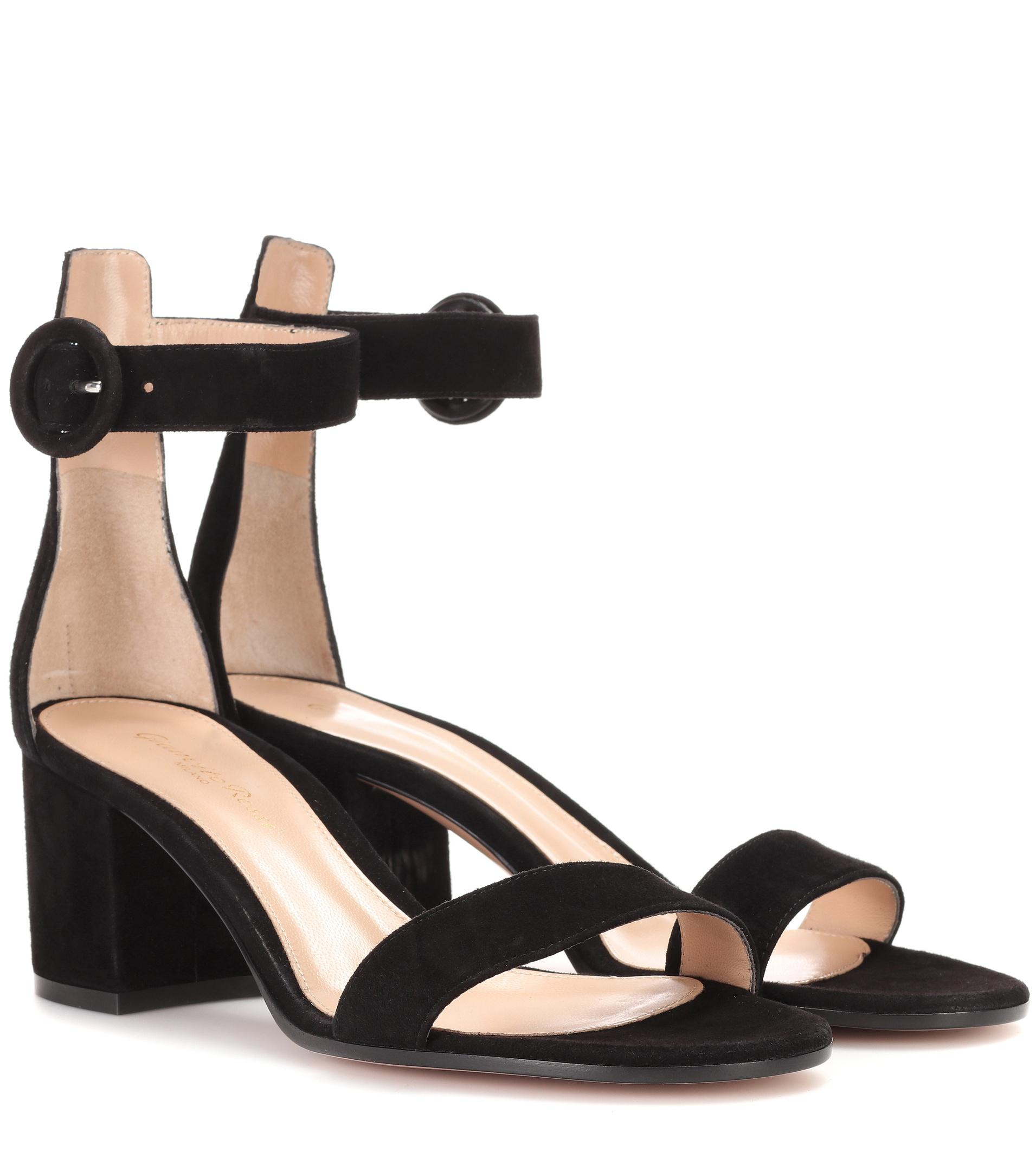 Black Suede Versilia 105 sandals Gianvito Rossi