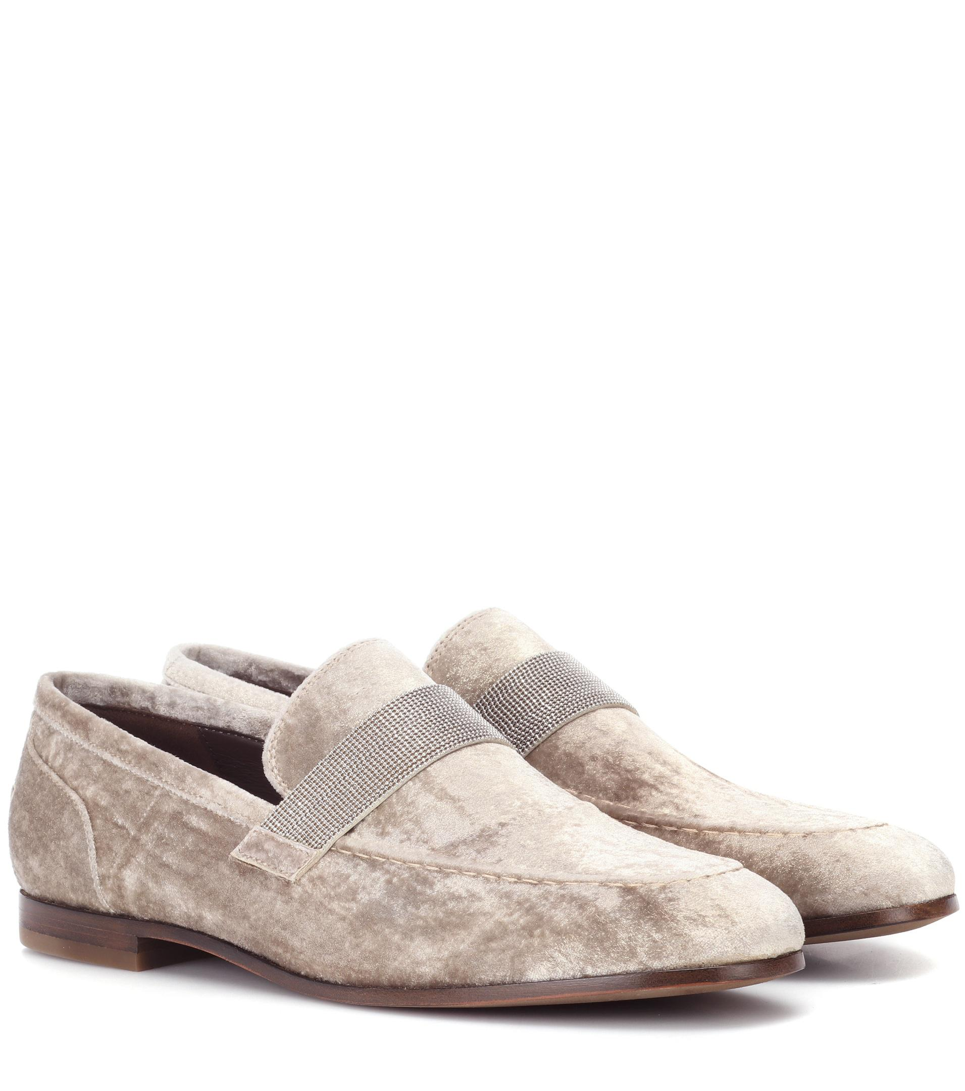 Brunello Cucinelli Velvet slippers free shipping under $60 discount choice sale with paypal cheap high quality nESifnMfZc
