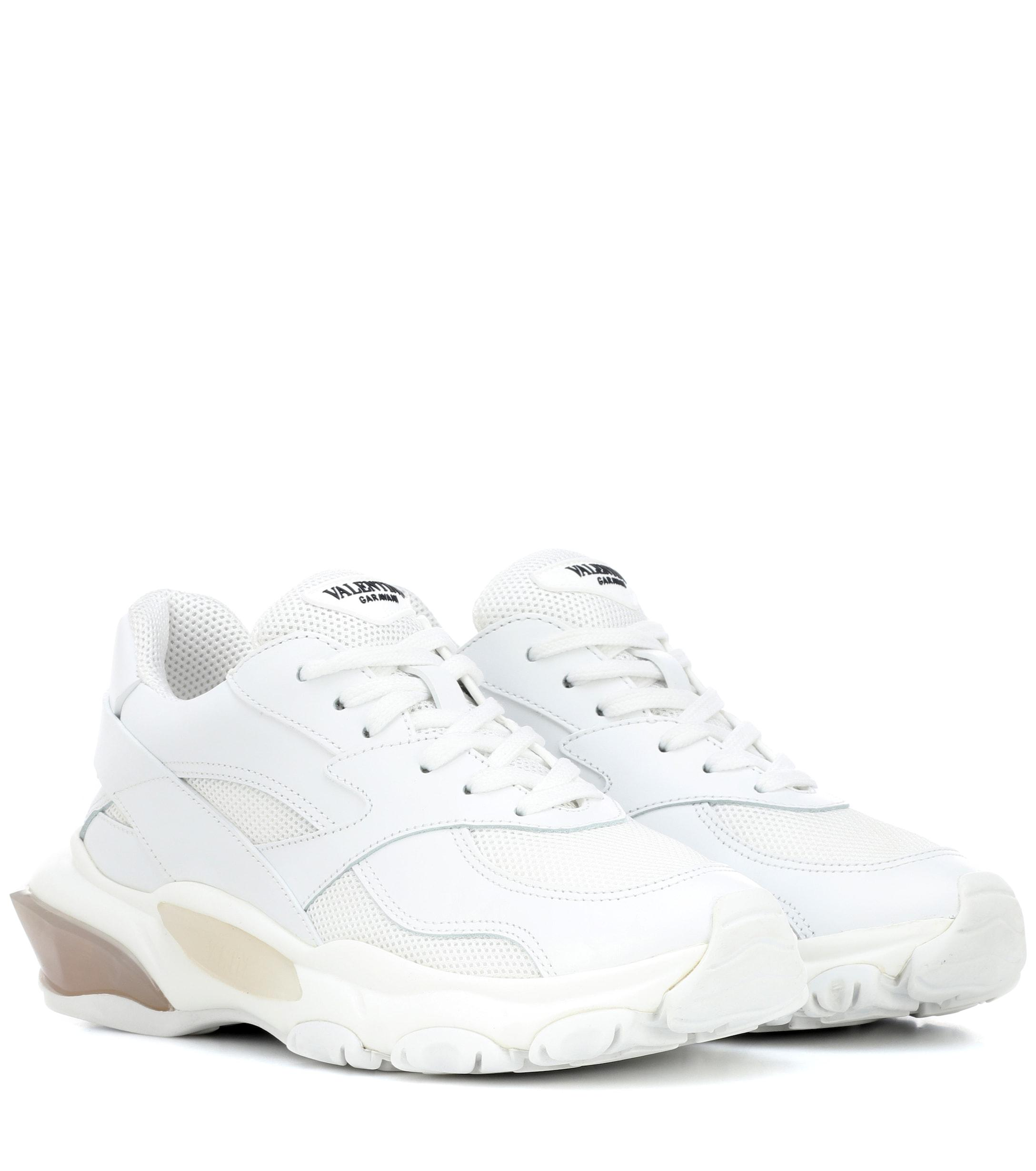 3aa27acd7534 Lyst - Valentino Garavani Bounce Sneakers in White - Save 1%