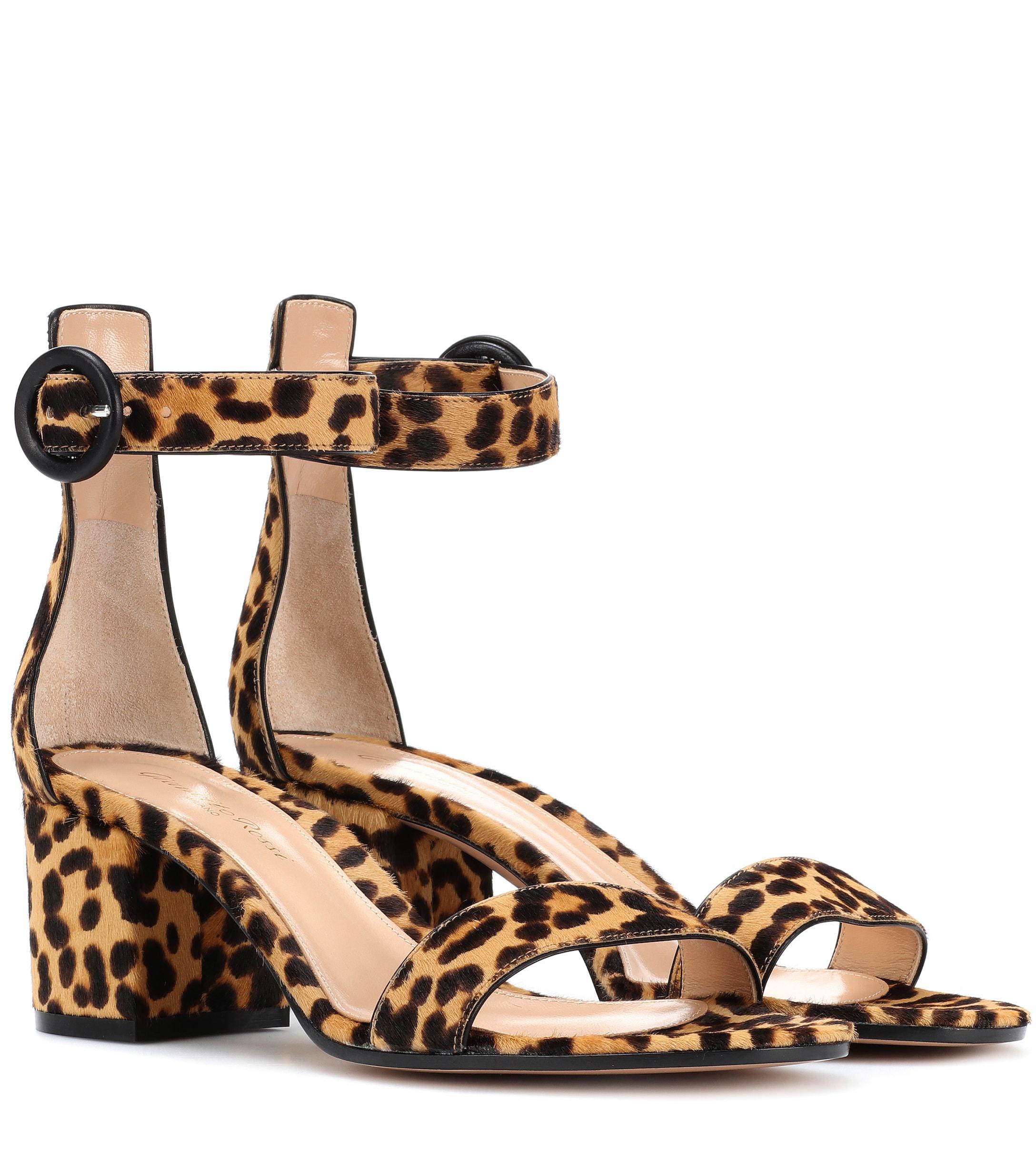 081aef0c8536 Gianvito Rossi. Women s Versilia 60 Leopard-printed Sandals