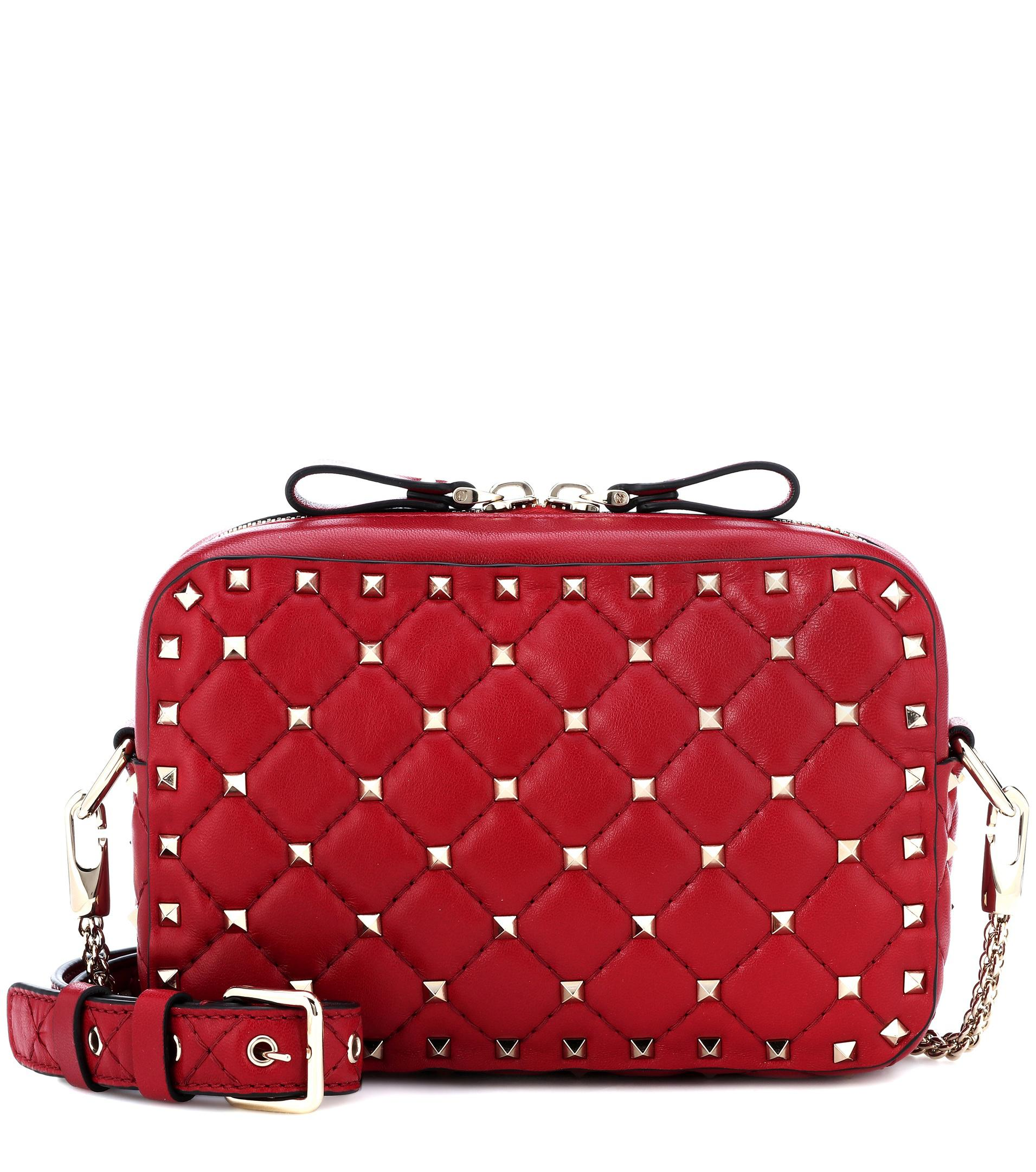 Valentino Red Rockstud Spike Leather Cross Body Bag Cheap Marketable Free Shipping Order O5uXKpKEHj