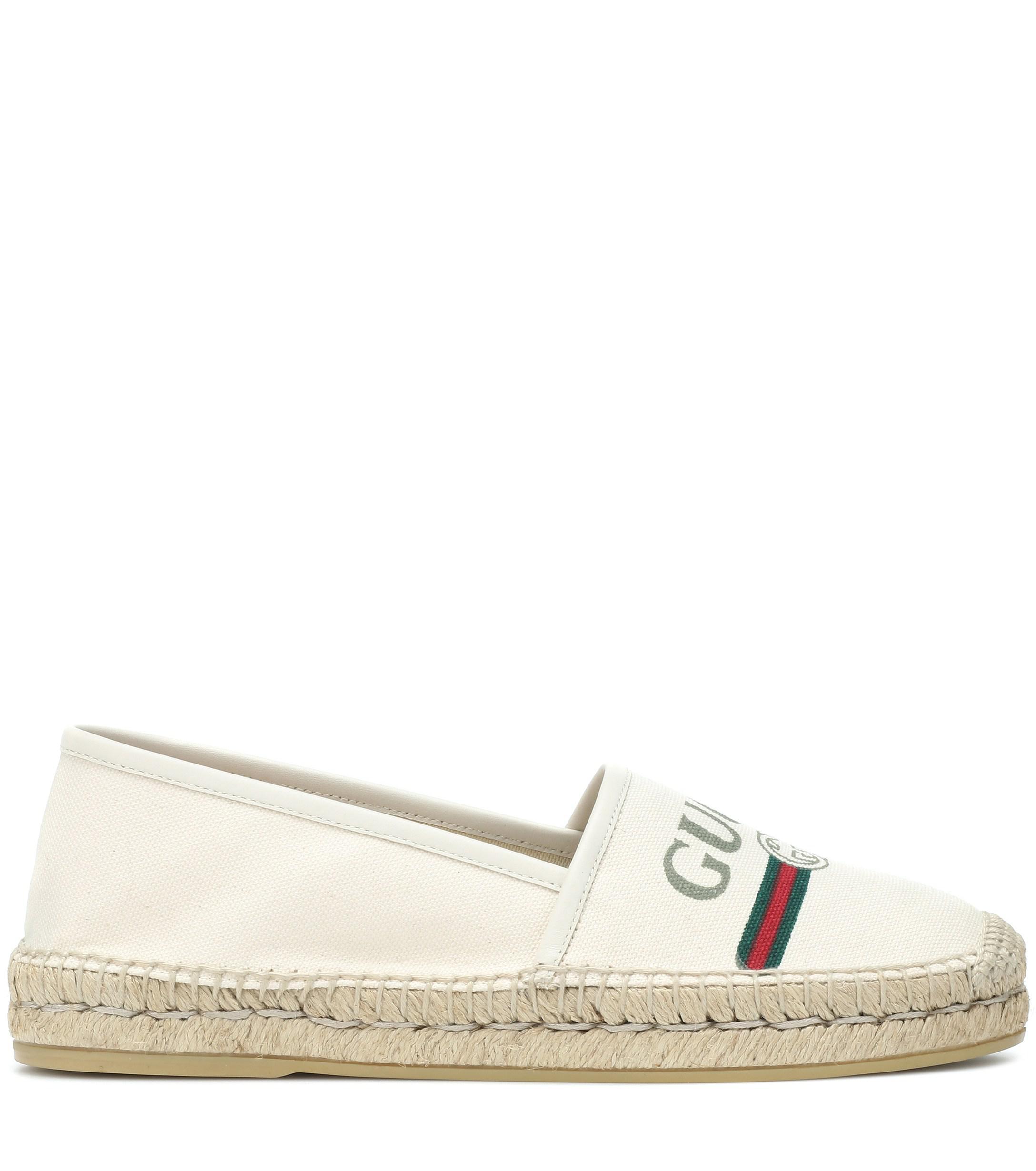da90fffd8 Gucci Logo Espadrilles in White - Save 12% - Lyst