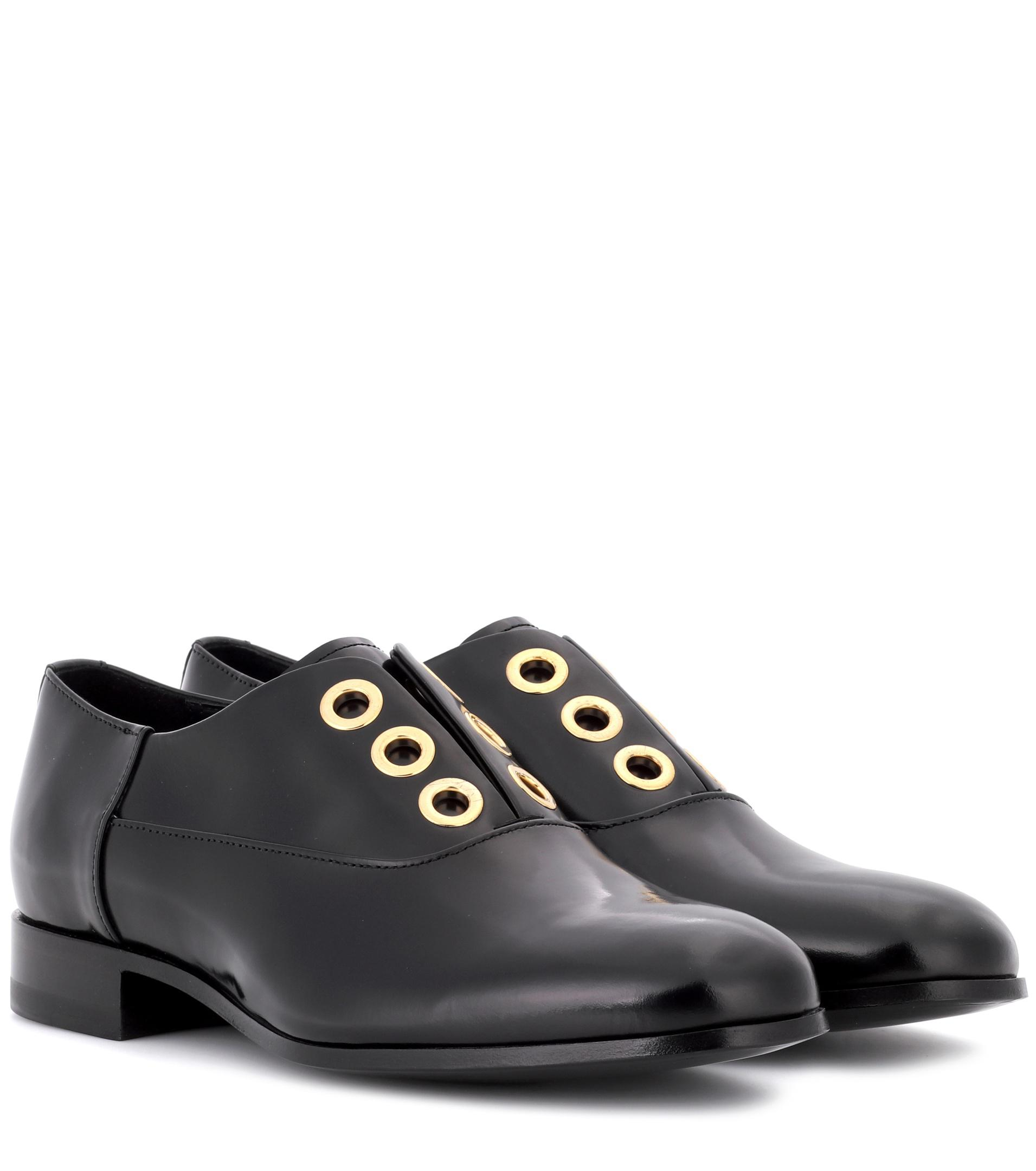 Polished leather derby shoes Pierre Hardy zG8iBZf