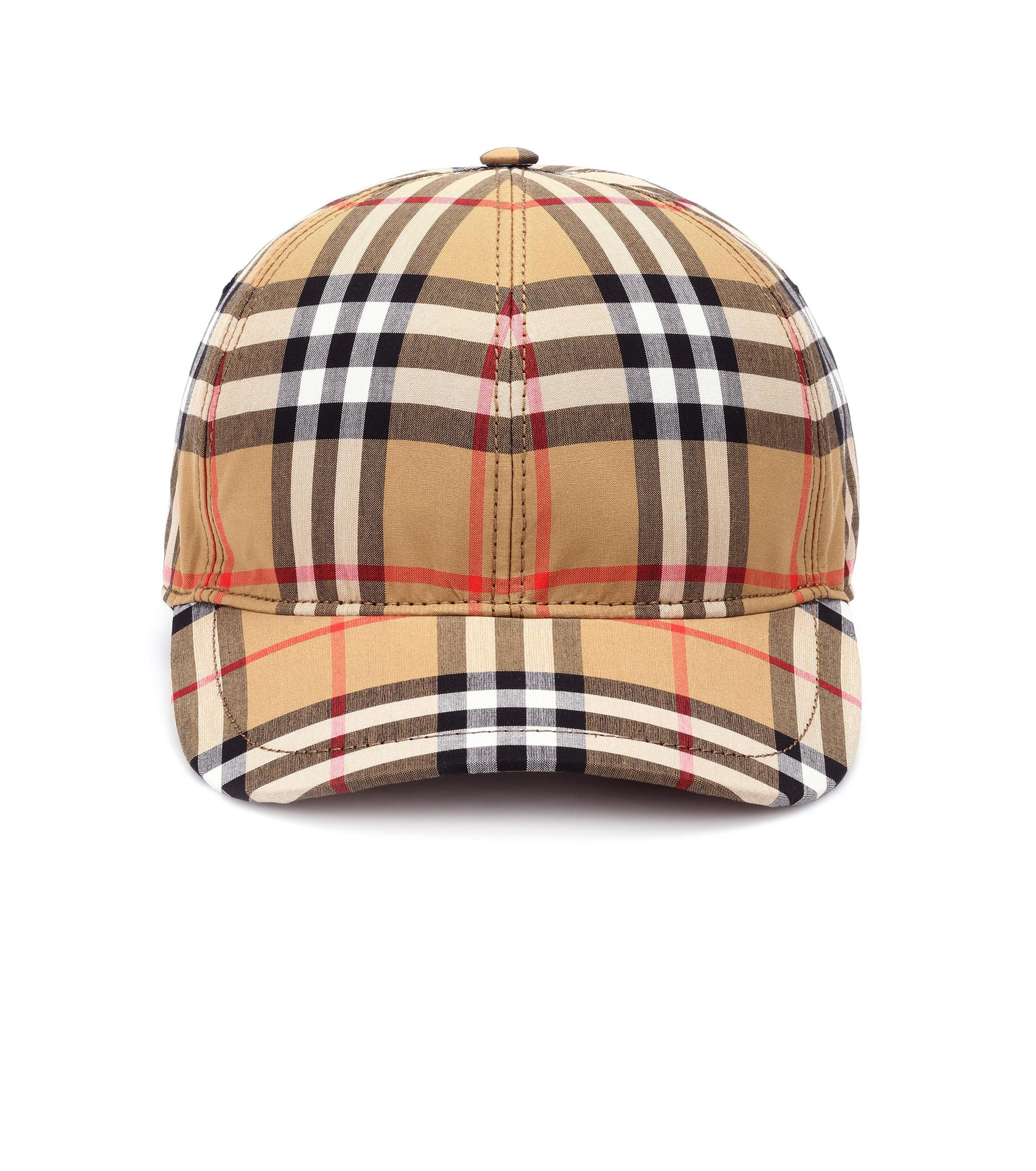 Vintage-check cotton cap Burberry Vu2HVO